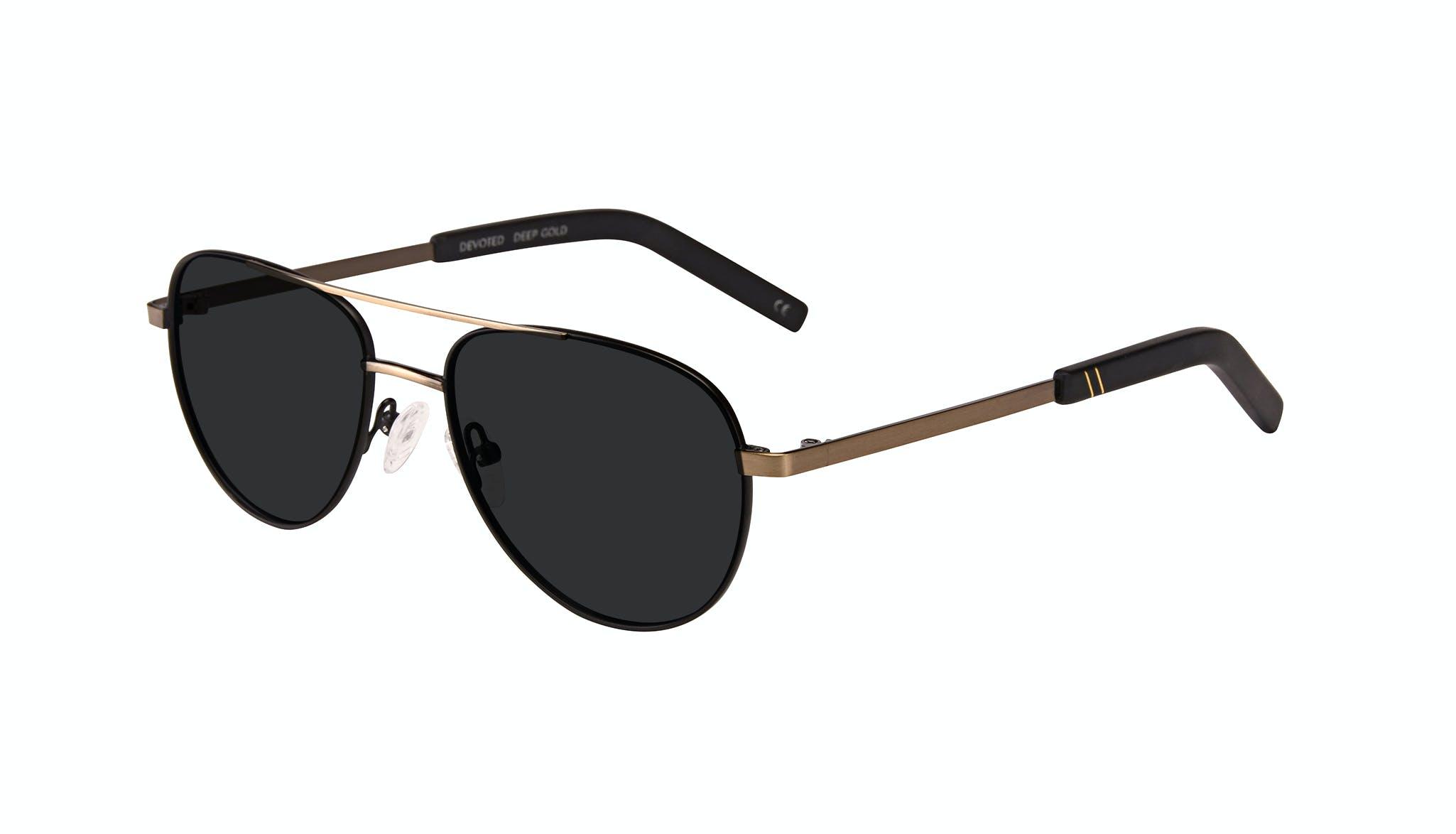 Affordable Fashion Glasses Aviator Sunglasses Men Devoted Deep Gold Tilt