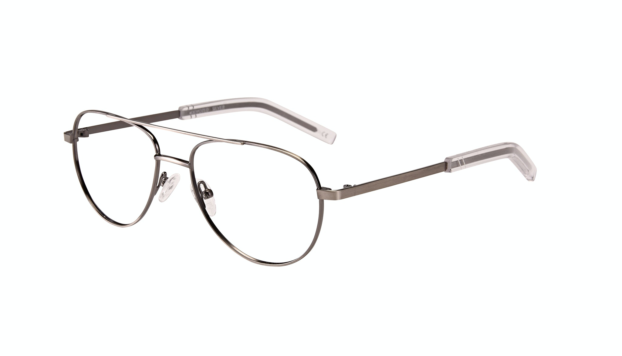 Affordable Fashion Glasses Aviator Eyeglasses Men Devoted Silver Tilt