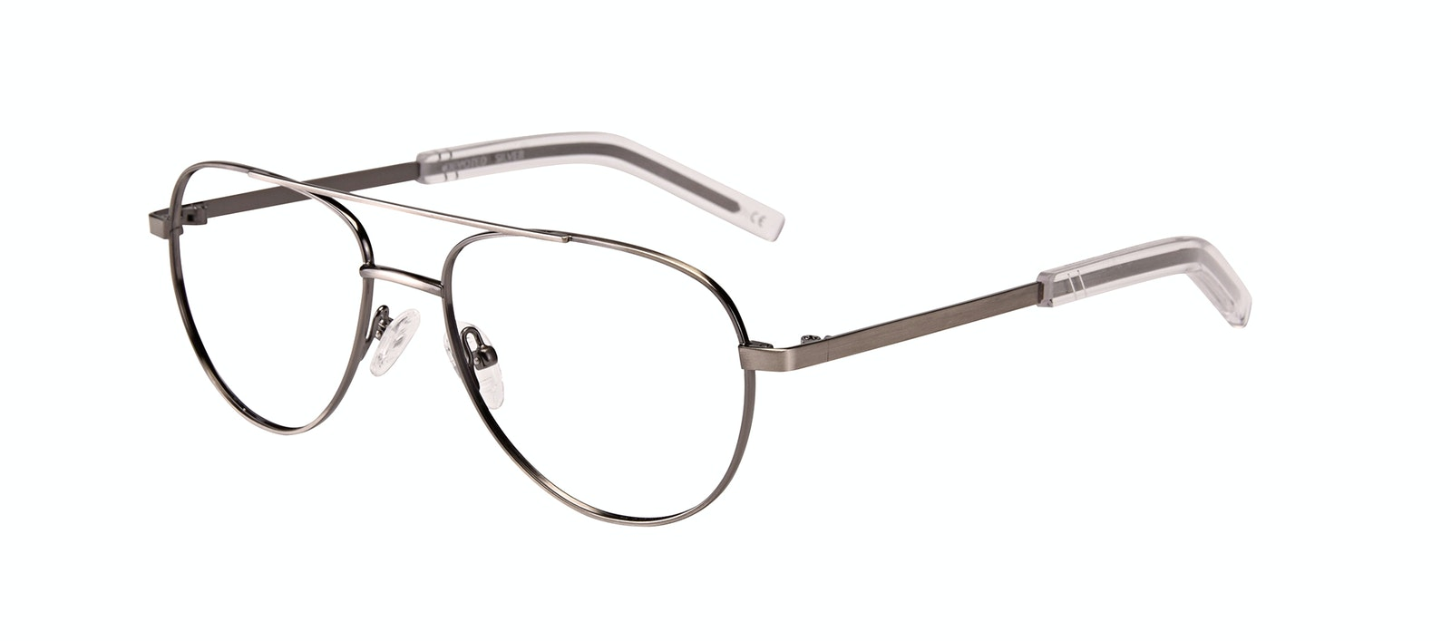Affordable Fashion Glasses Aviator Eyeglasses Men Devoted Silver Tilt