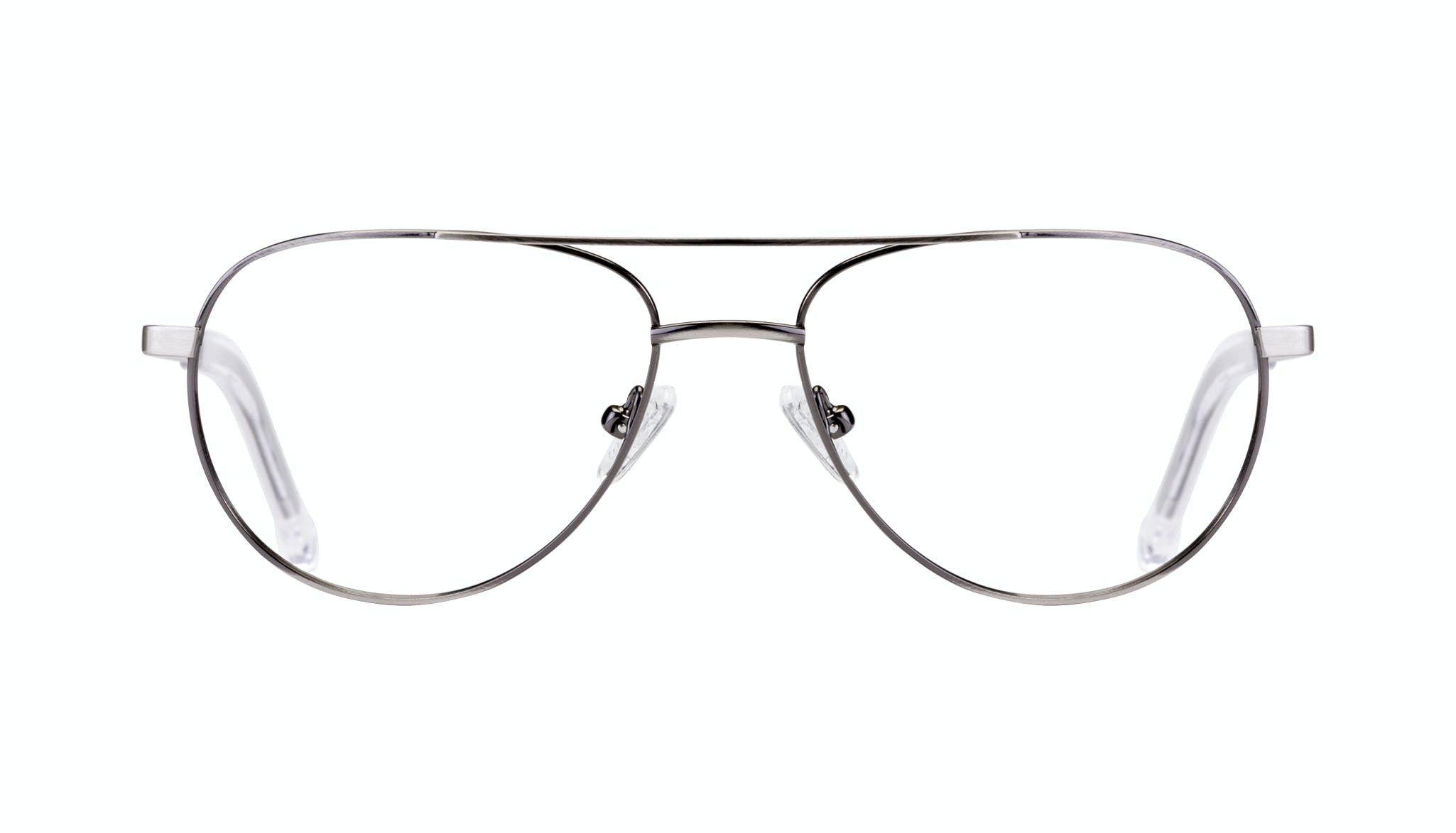 Affordable Fashion Glasses Aviator Eyeglasses Men Devoted Silver Front