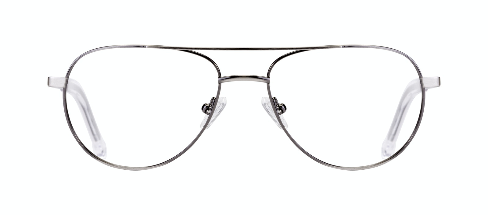 Affordable Fashion Glasses Aviator Eyeglasses Men Devoted Silver Front
