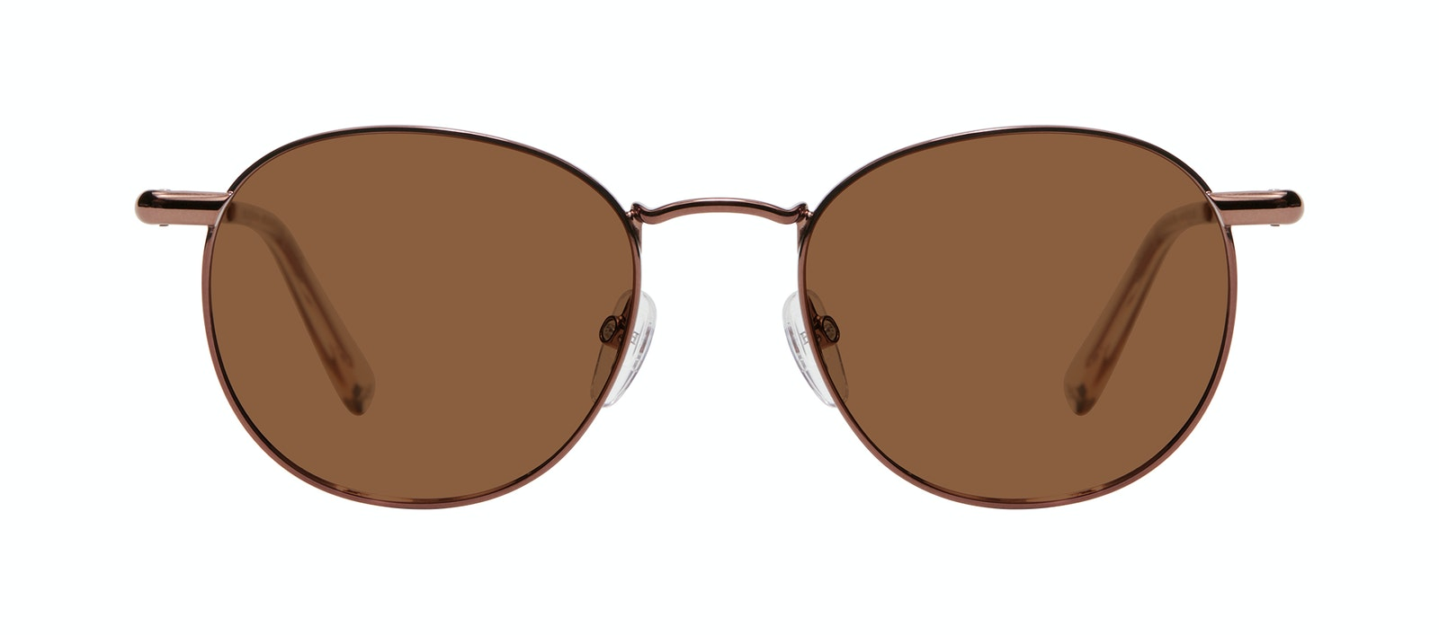 Affordable Fashion Glasses Round Sunglasses Men Women Divine L Copper Front