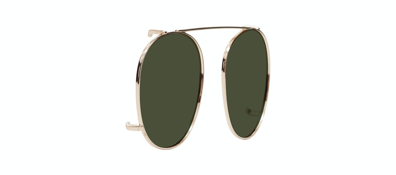 Affordable Fashion Glasses Accessory Men Women Divine Clip L Gold Tilt