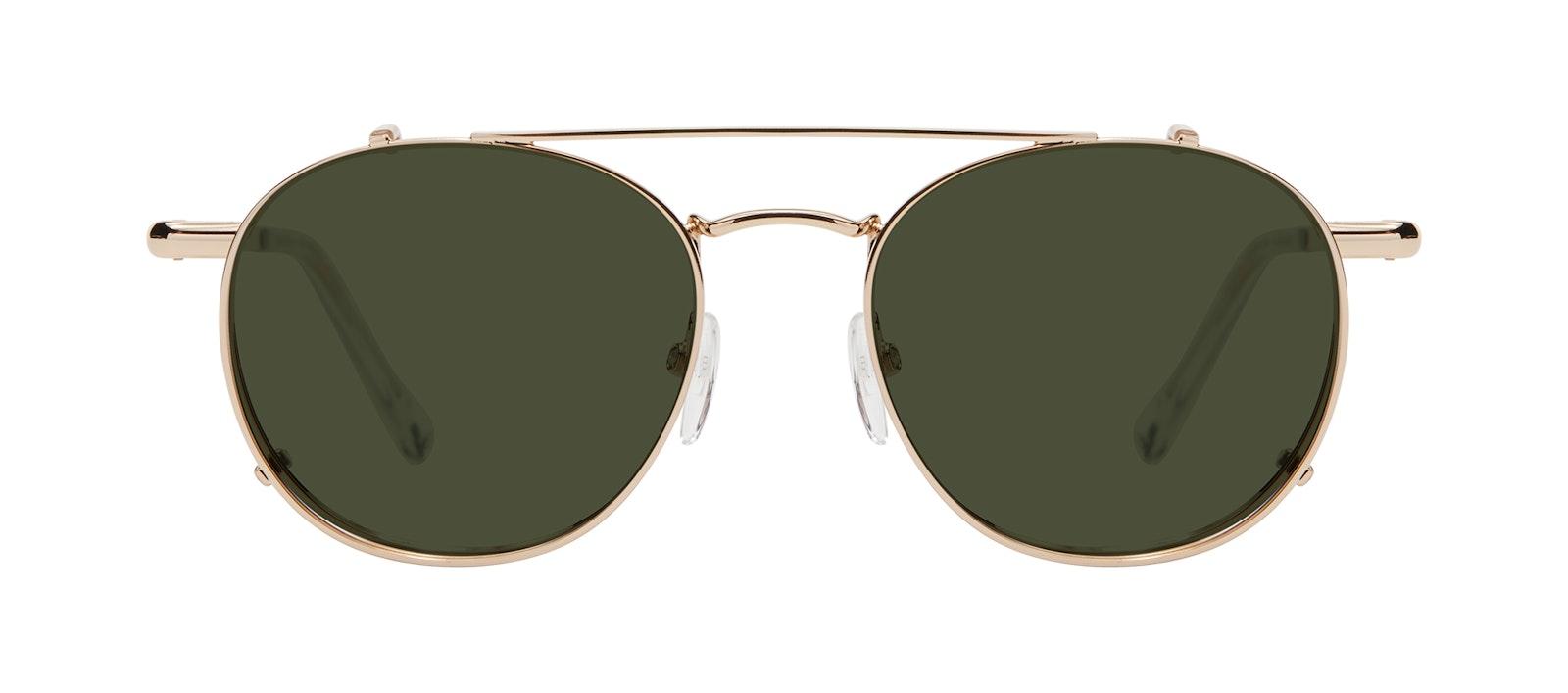 Affordable Fashion Glasses Accessory Men Women Divine Clip L Gold Side