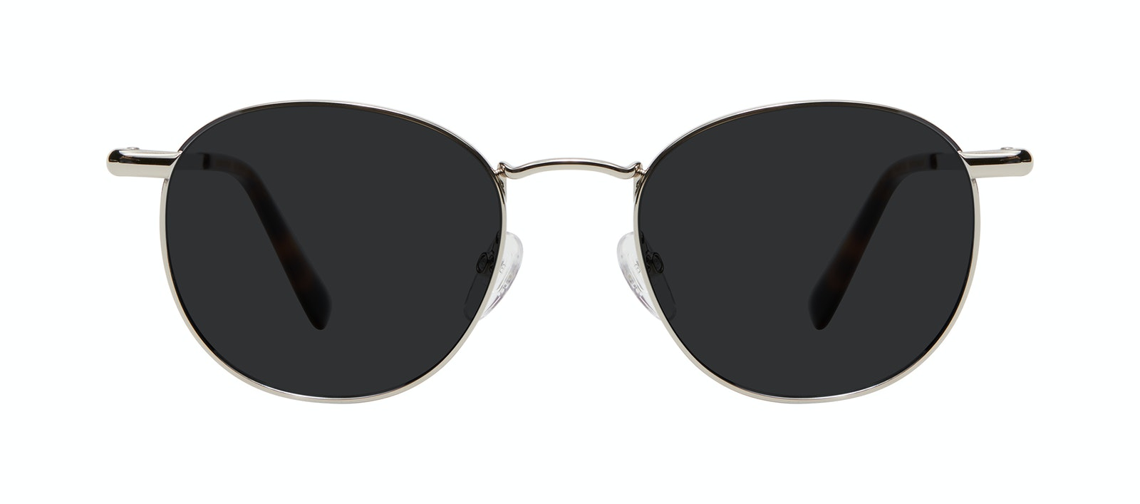 Affordable Fashion Glasses Round Sunglasses Men Women Divine L Silver Front