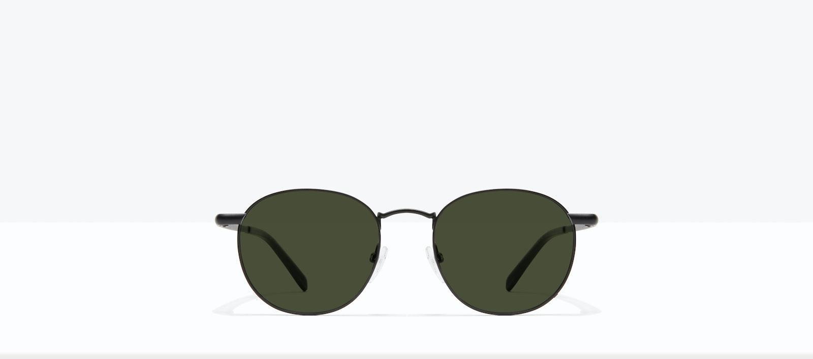 Affordable Fashion Glasses Round Sunglasses Men Women Divine Matte Black Front