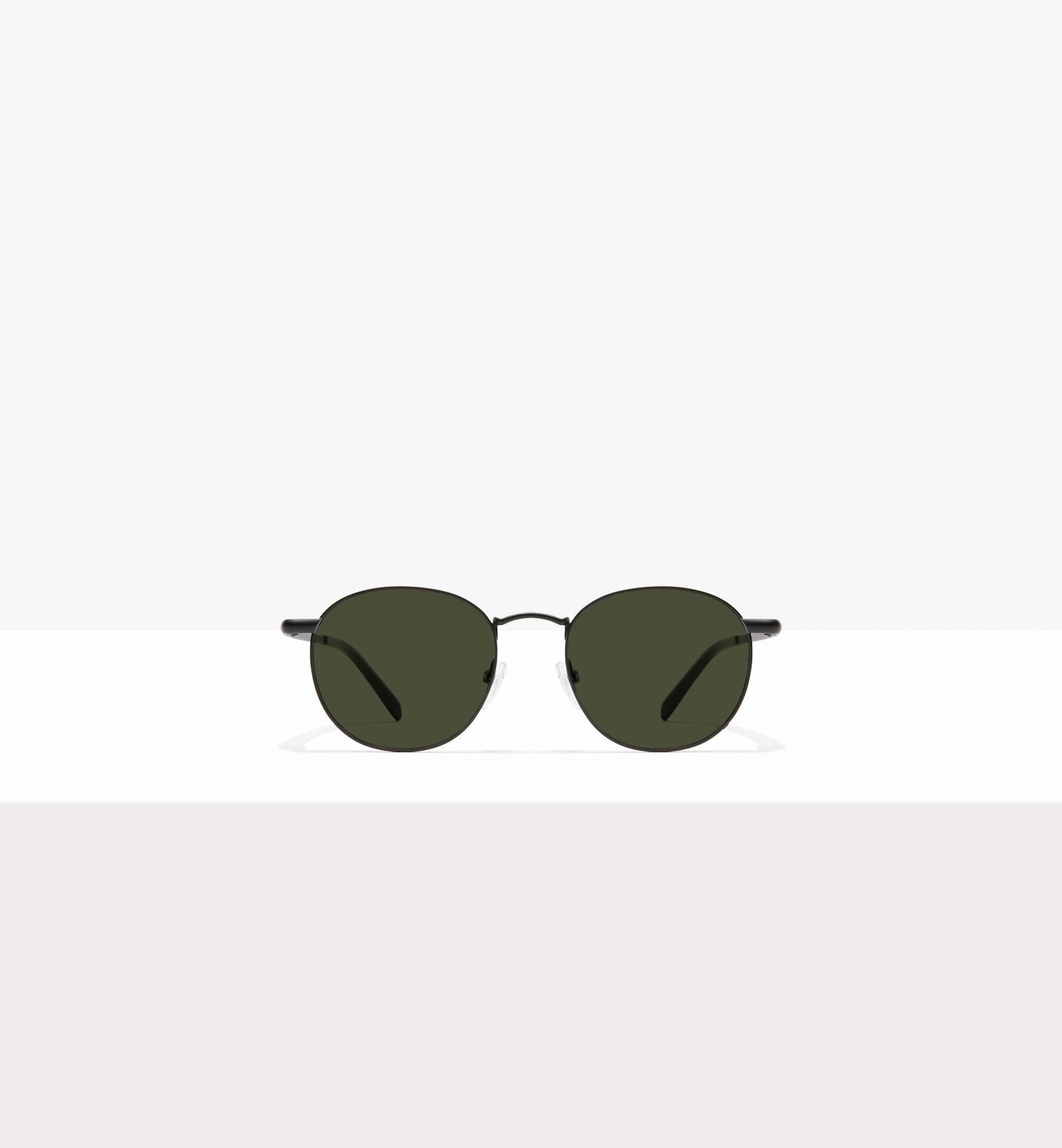 Affordable Fashion Glasses Round Sunglasses Men Women Divine Matte Black