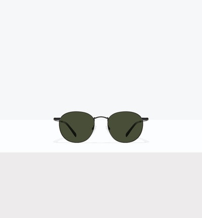 Affordable Fashion Glasses Round Sunglasses Men Women Divine Matte Black Front