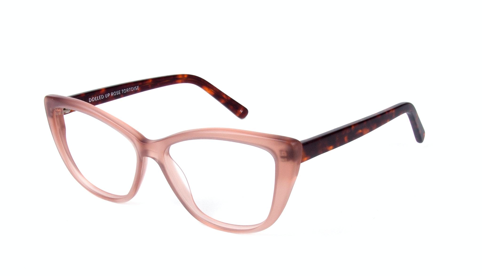 Affordable Fashion Glasses Cat Eye Eyeglasses Women Dolled Up Rose Tortoise Matte Tilt