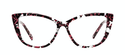 Affordable Fashion Glasses Cat Eye Daring Cateye Eyeglasses Women Dolled Up Surprise Coral Front