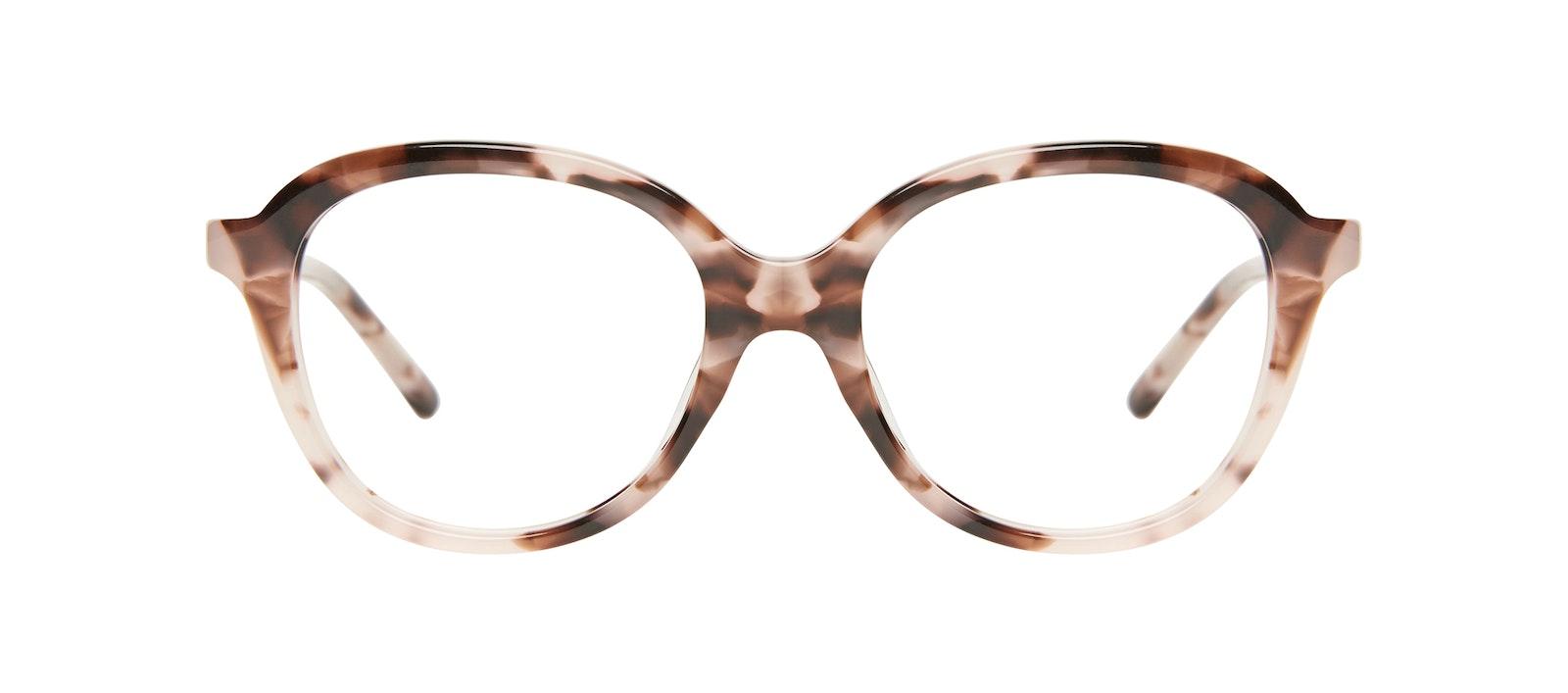 Affordable Fashion Glasses Round Eyeglasses Kids Dream Junior Marbled Pink Front