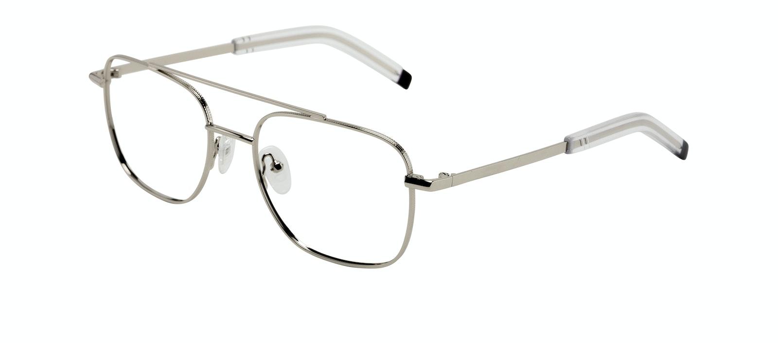 Affordable Fashion Glasses Aviator Eyeglasses Men Drift Silver Tilt