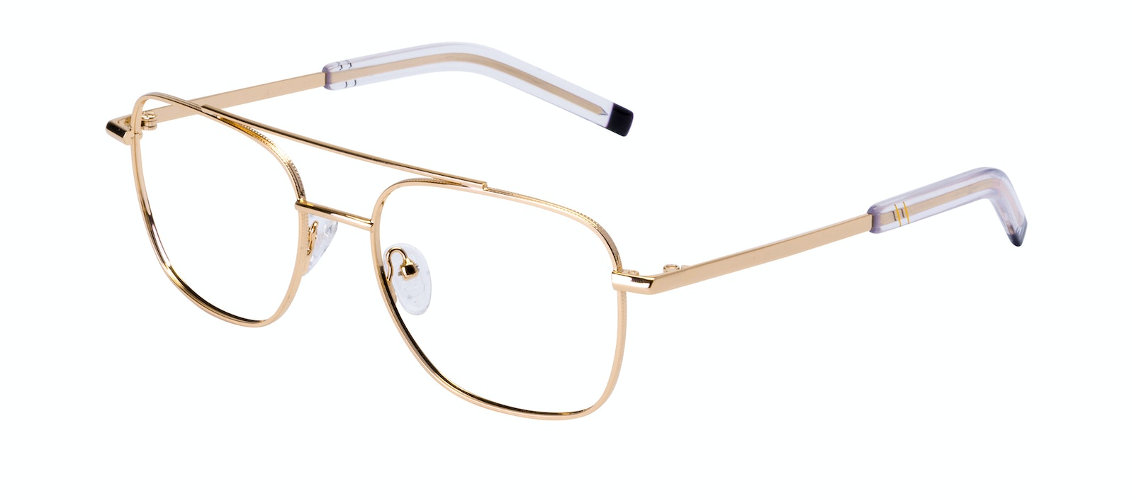 Affordable Fashion Glasses Aviator Eyeglasses Men Drift Gold Tilt