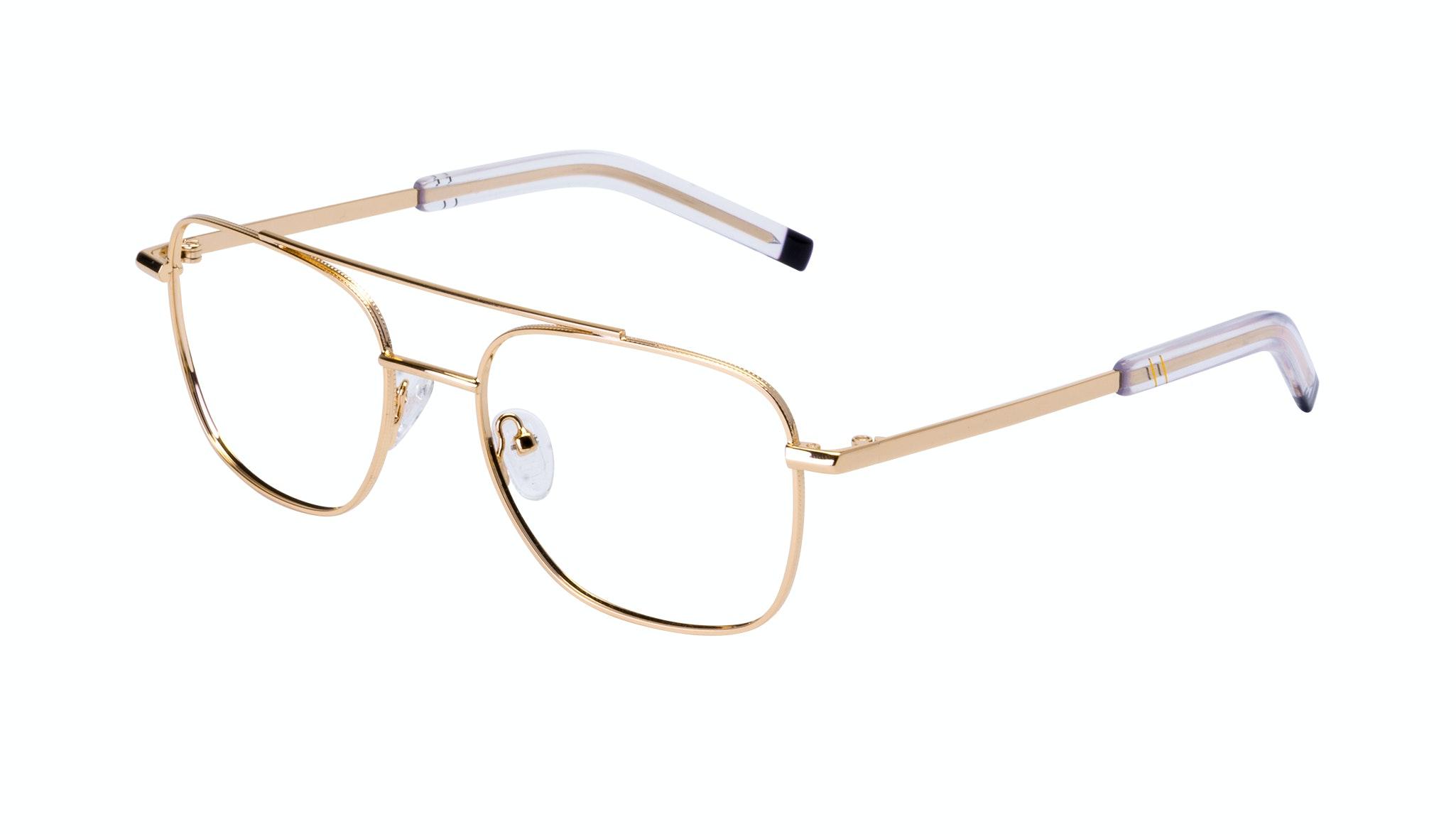 Affordable Fashion Glasses Aviator Eyeglasses Men Drift Gold Tilt