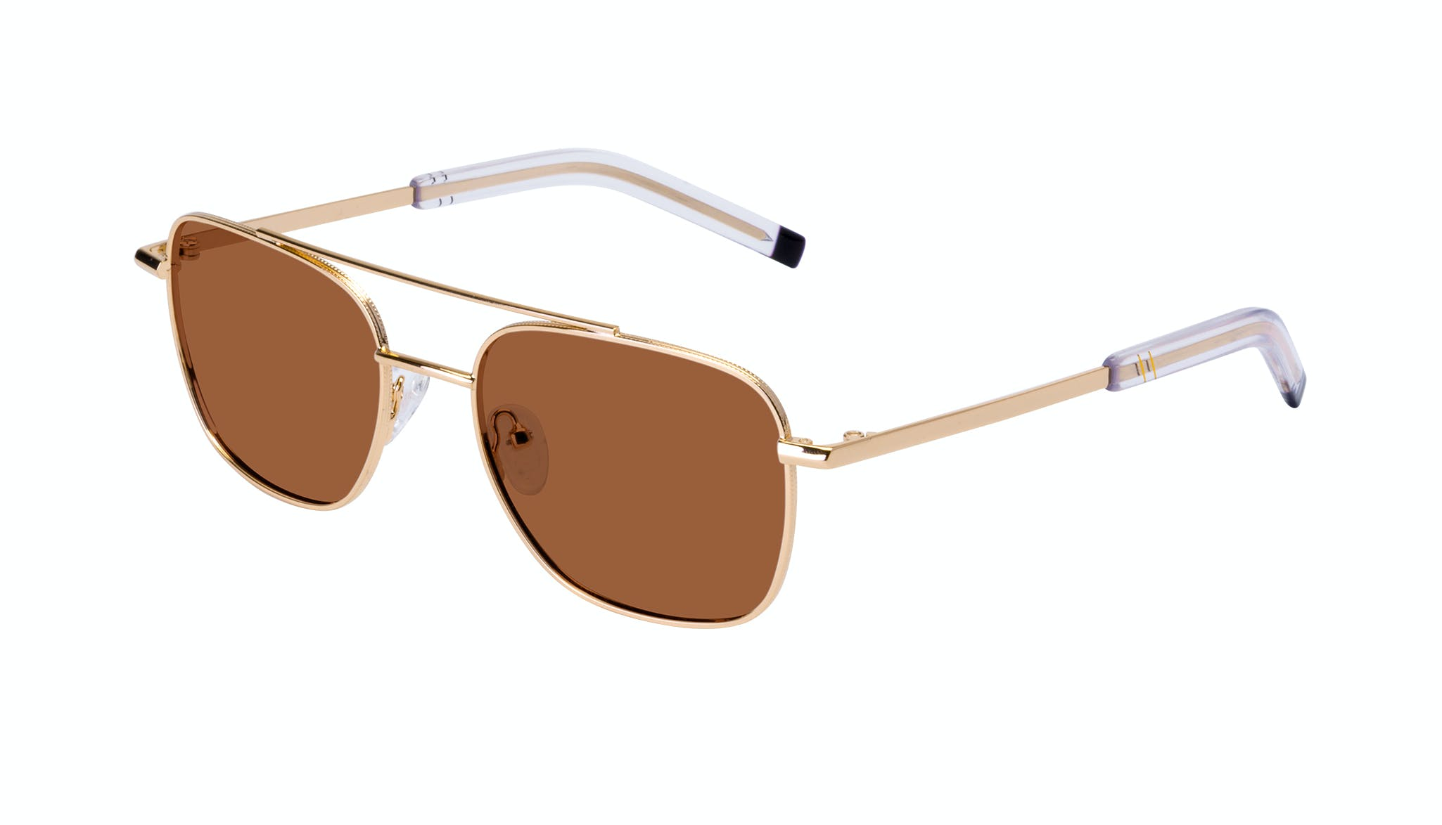 Affordable Fashion Glasses Aviator Sunglasses Men Drift Gold Tilt