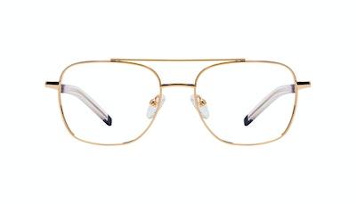 Affordable Fashion Glasses Aviator Eyeglasses Men Drift Gold Front