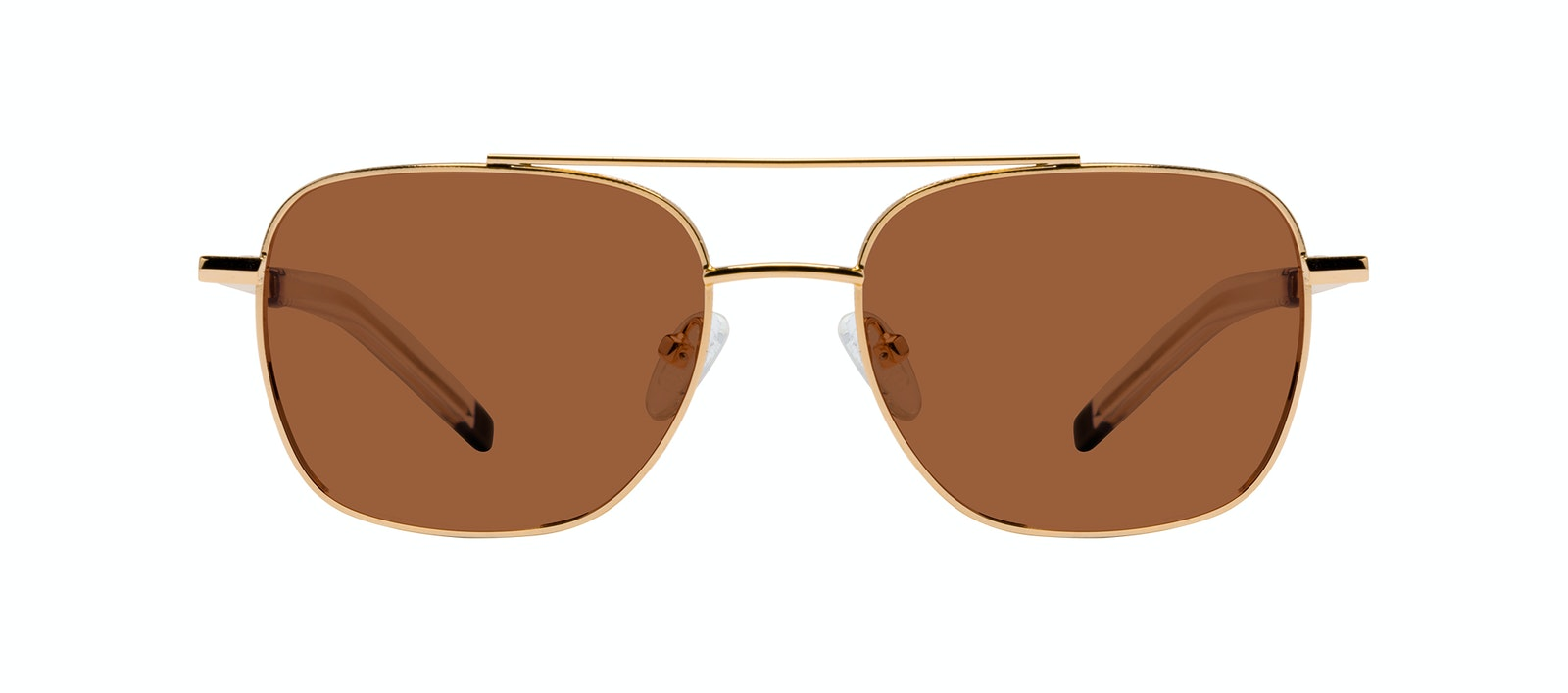 Affordable Fashion Glasses Aviator Sunglasses Men Drift Gold Front