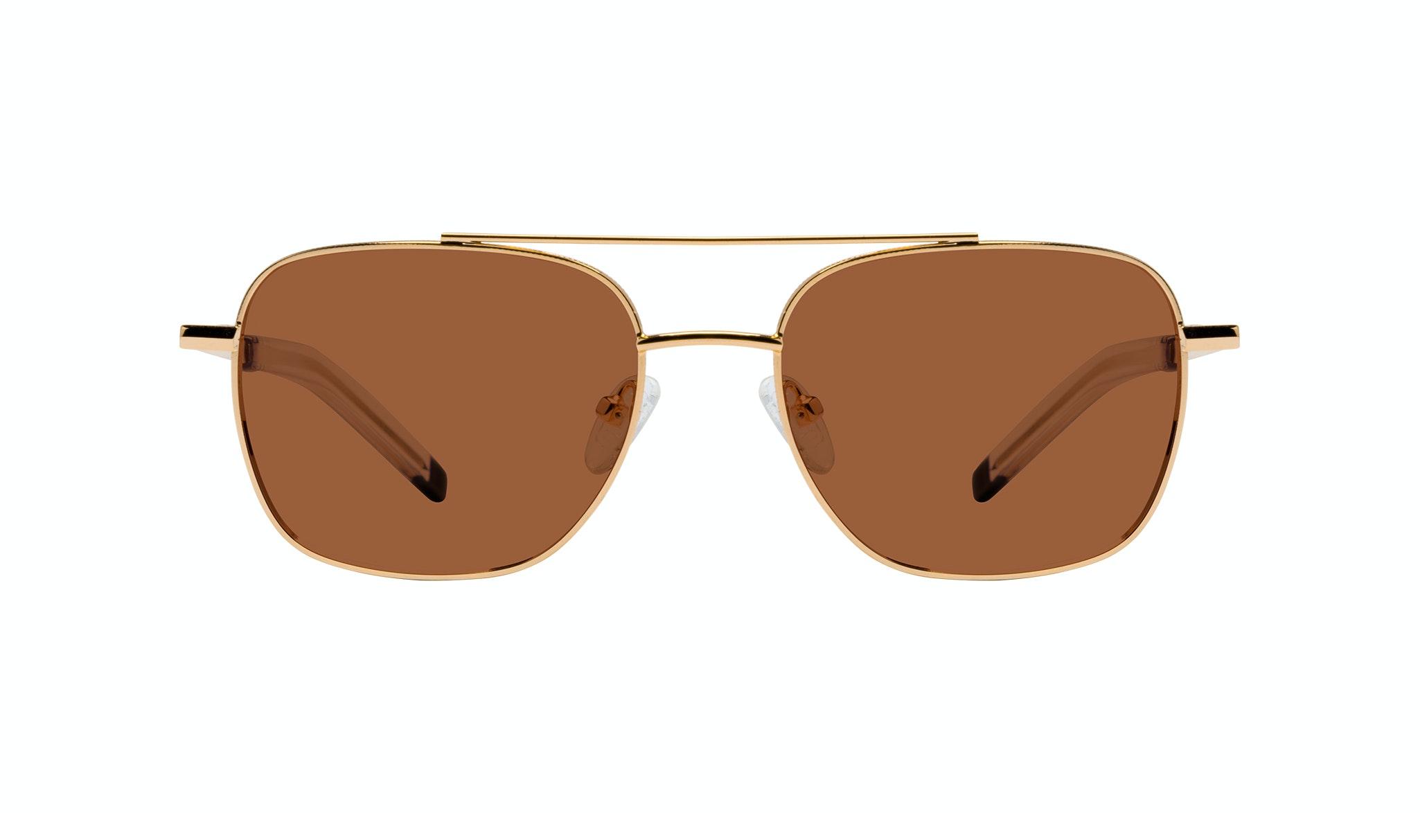 Affordable Fashion Glasses Aviator Sunglasses Men Drift Gold Front