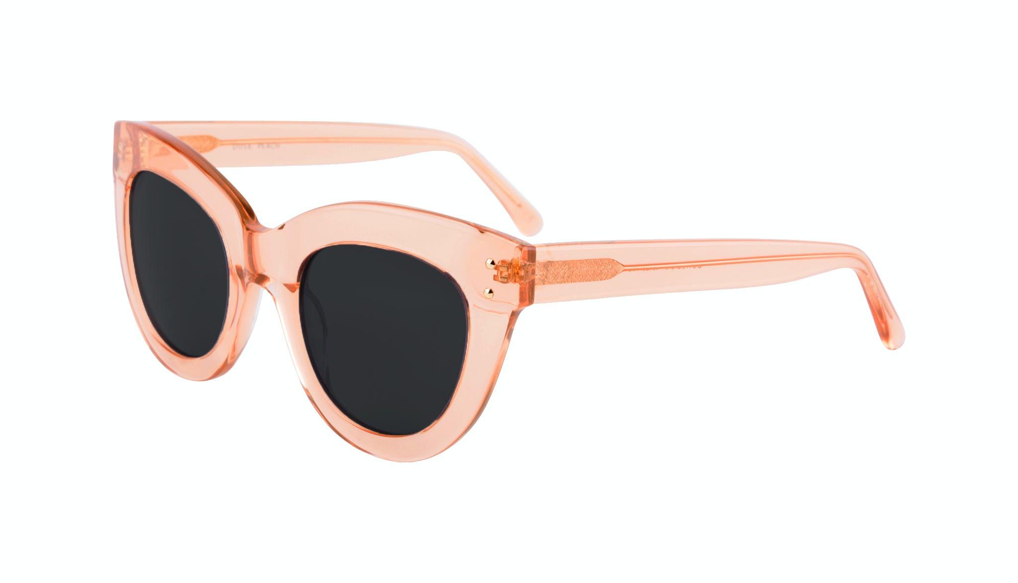 Lunettes tendance Oeil de chat Lunettes de soleil Femmes Dusk Peach Incliné