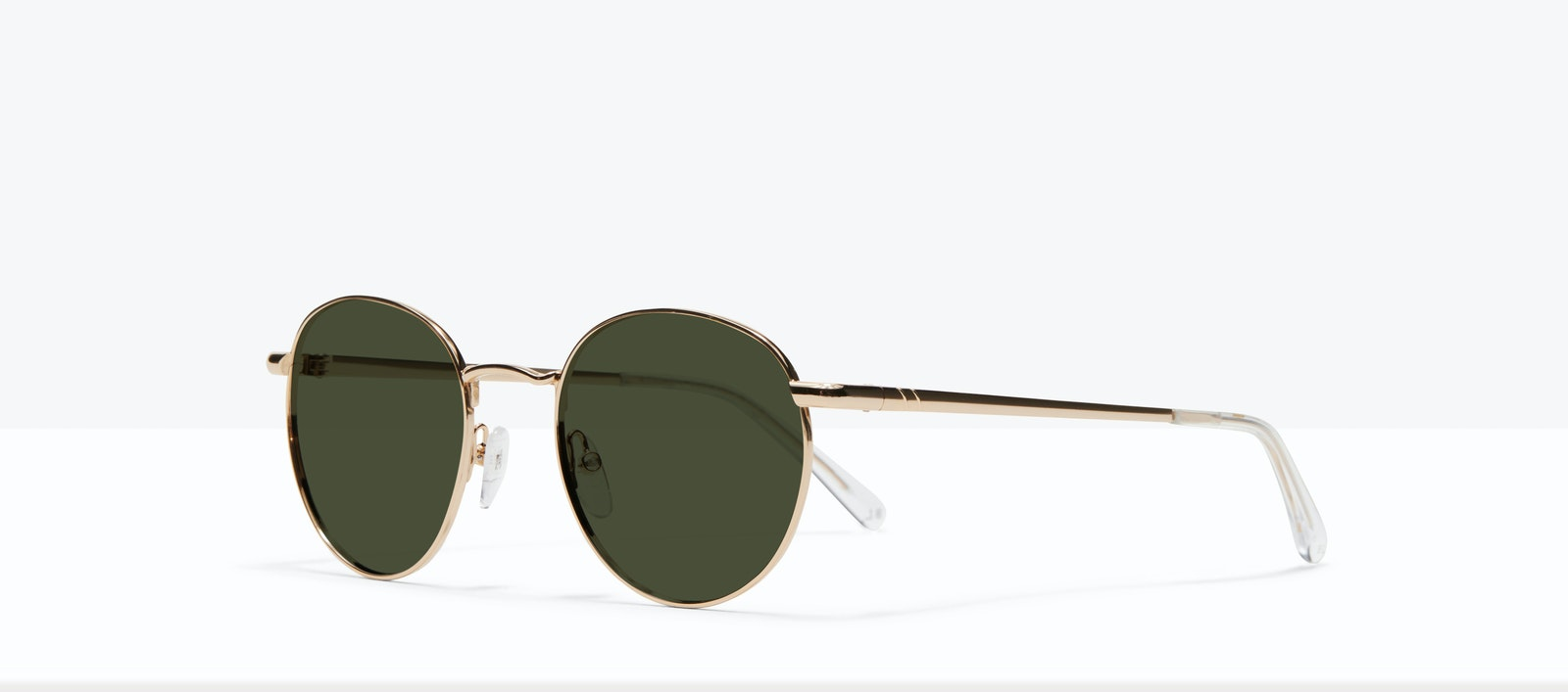 Affordable Fashion Glasses Round Sunglasses Men Women Dynasty M Gold Tilt