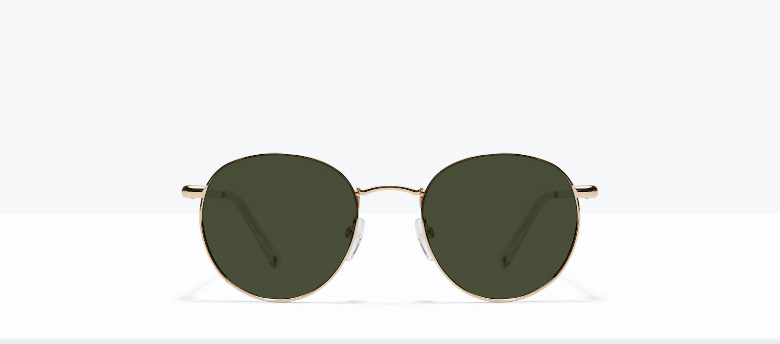 Affordable Fashion Glasses Round Sunglasses Men Women Dynasty M Gold Front