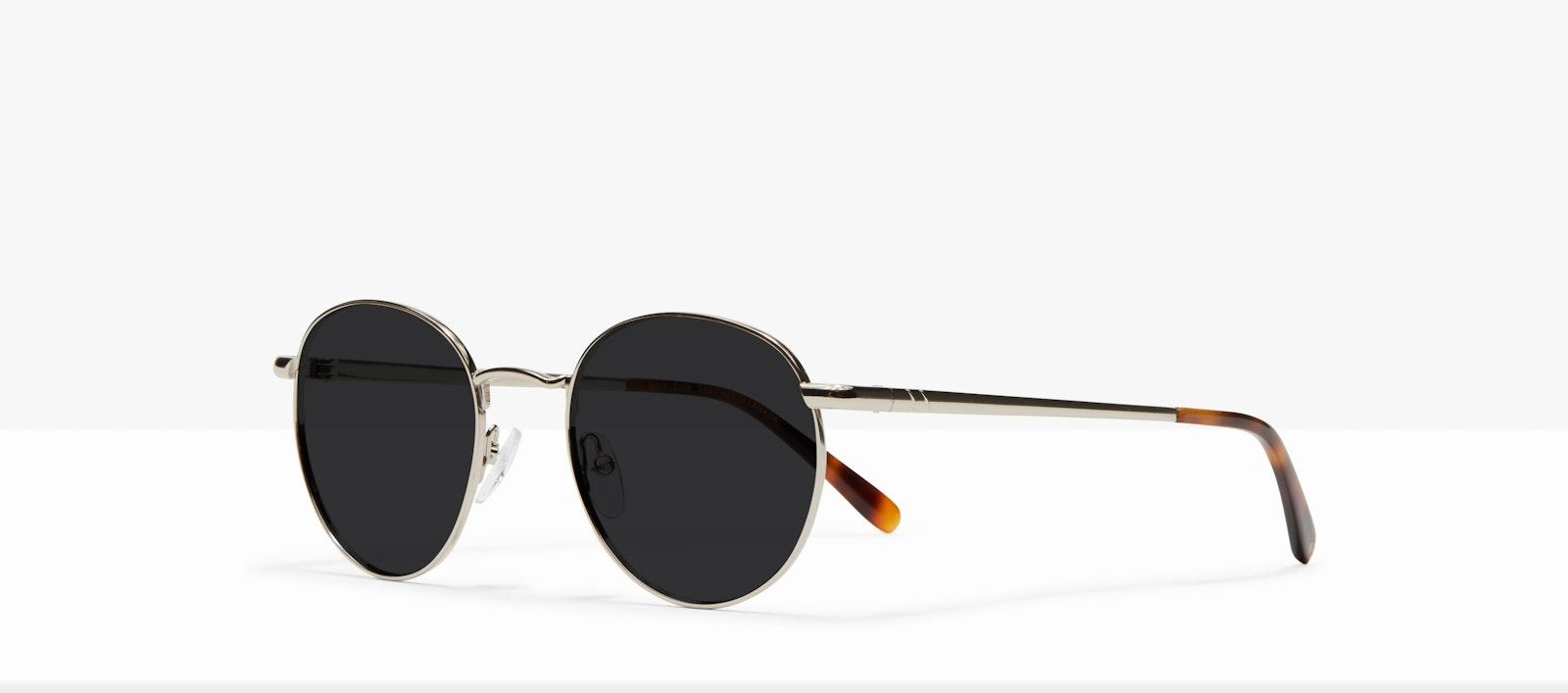 Affordable Fashion Glasses Round Sunglasses Men Women Dynasty M Silver Tilt