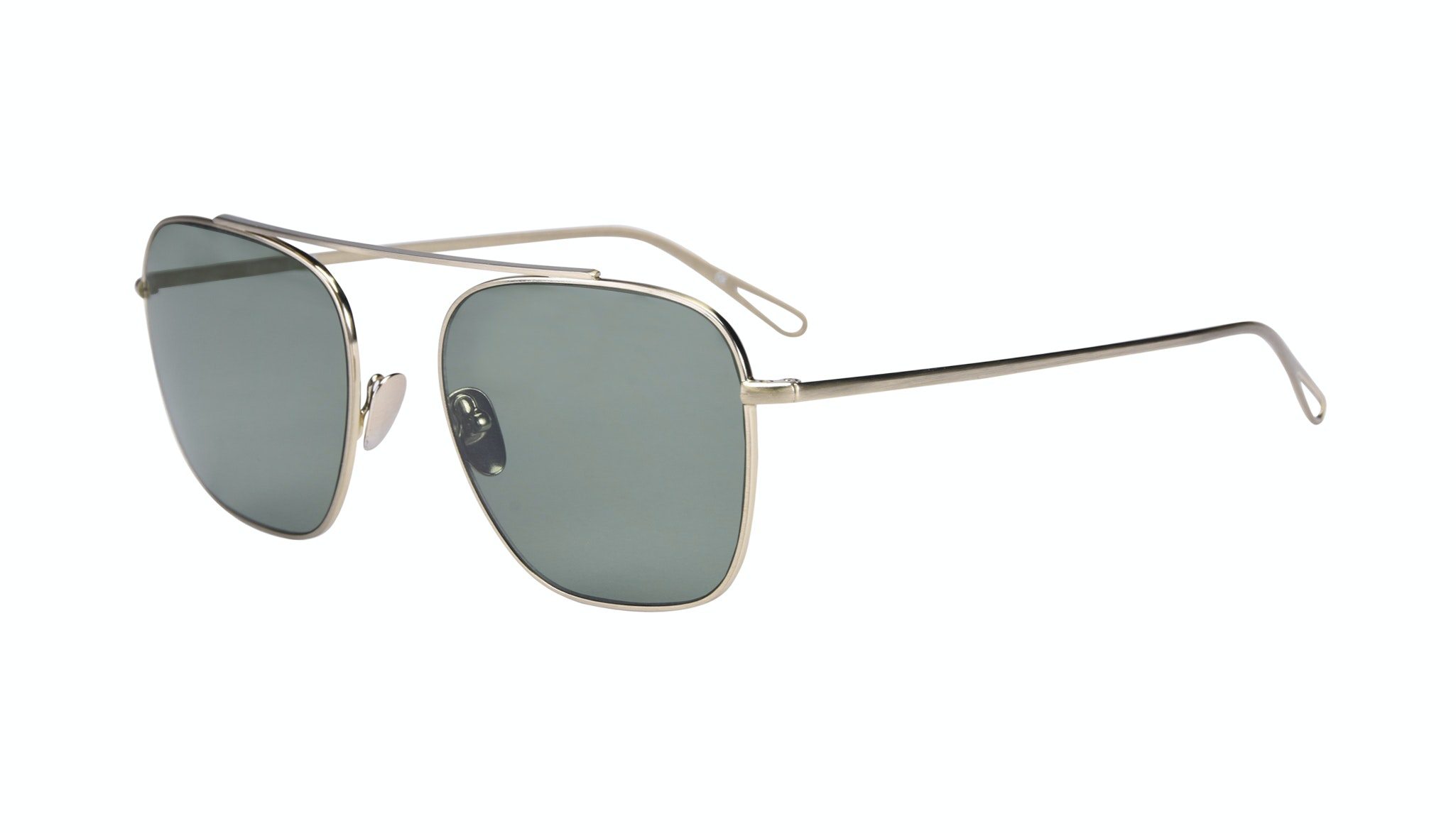 Affordable Fashion Glasses Aviator Sunglasses Men Eagle Brass Tilt