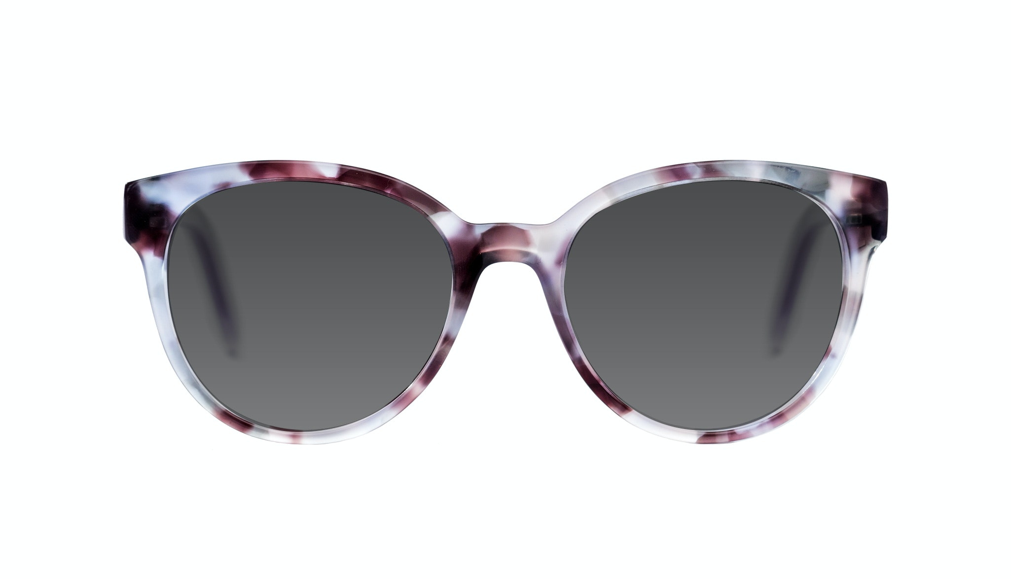 Affordable Fashion Glasses Round Sunglasses Women Eclipse Lilac Tort Front