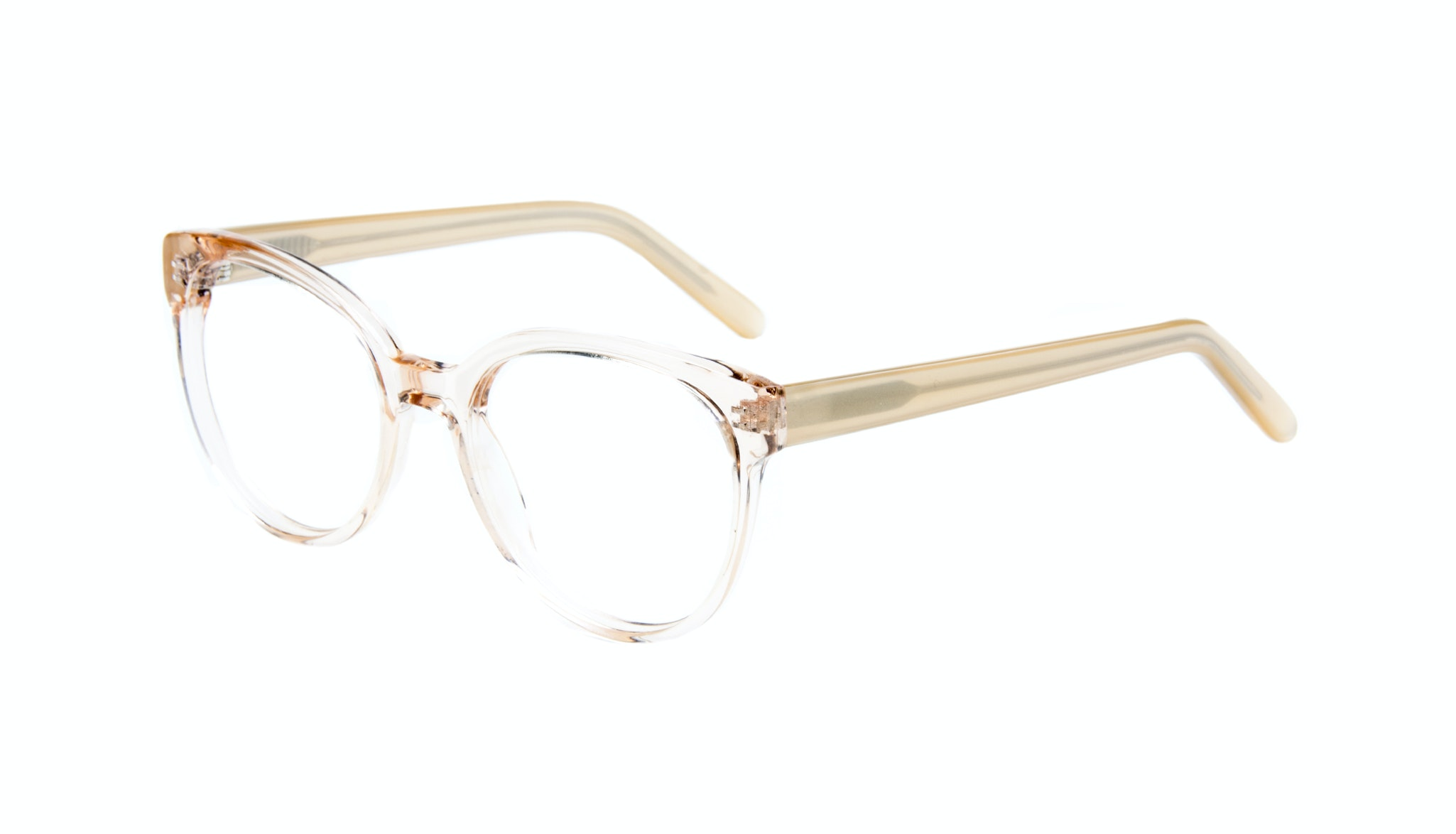 Affordable Fashion Glasses Cat Eye Round Eyeglasses Women Eclipse Blond Metal Tilt