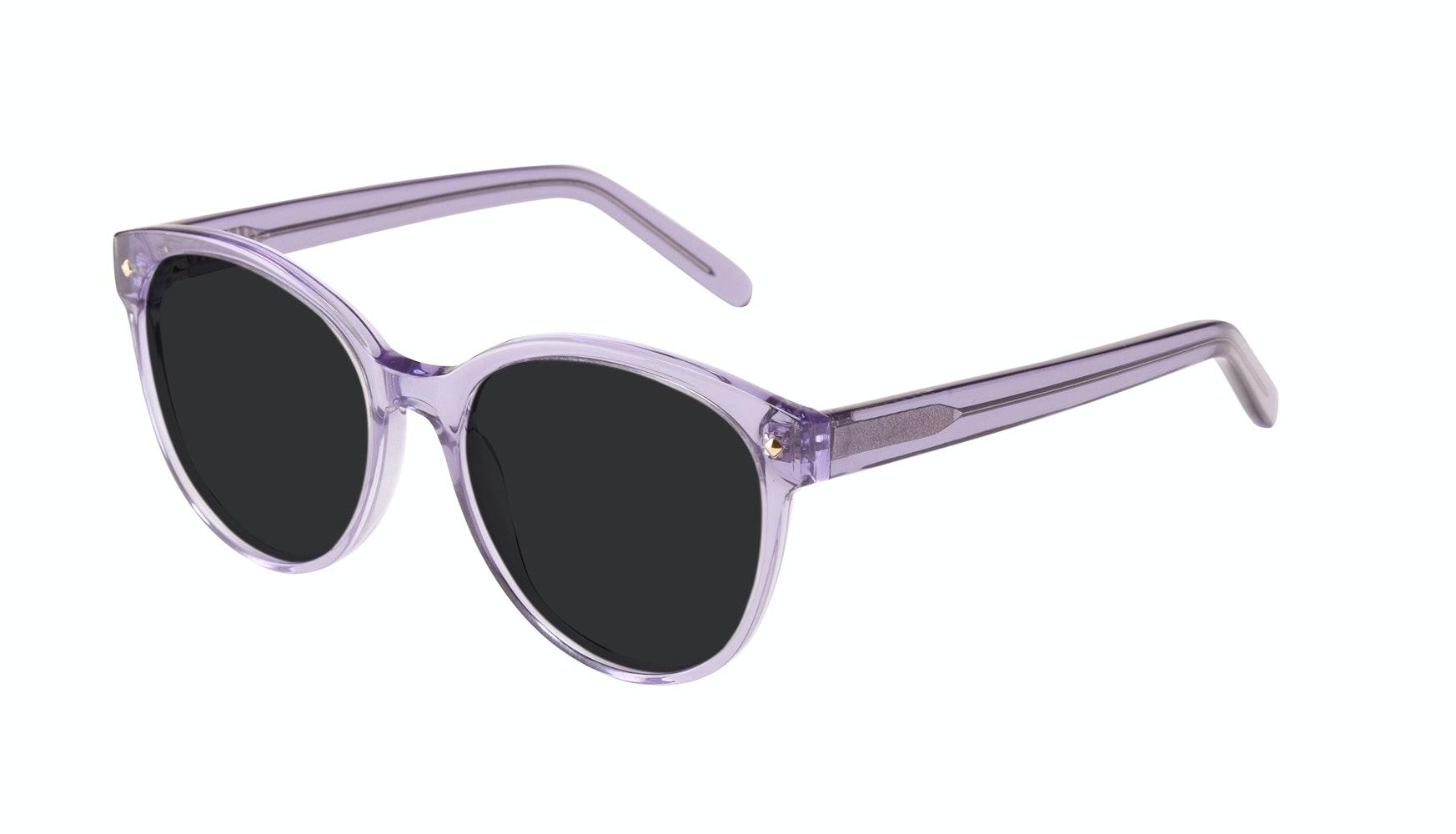 Lunettes tendance Ronde Lunettes solaires Femmes Eclipse Lavender Incliné
