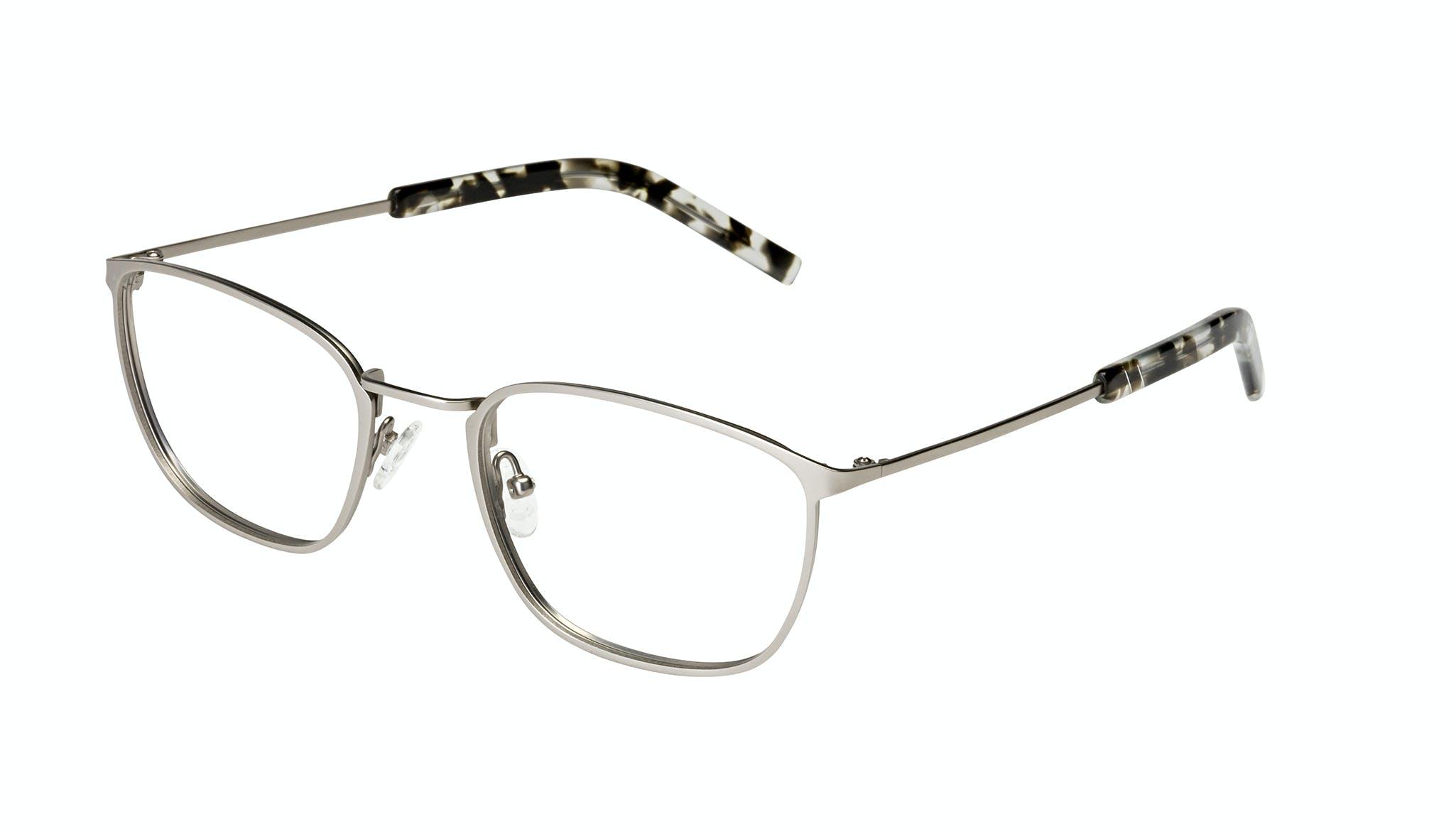 Affordable Fashion Glasses Rectangle Eyeglasses Men Edge Silver Tilt