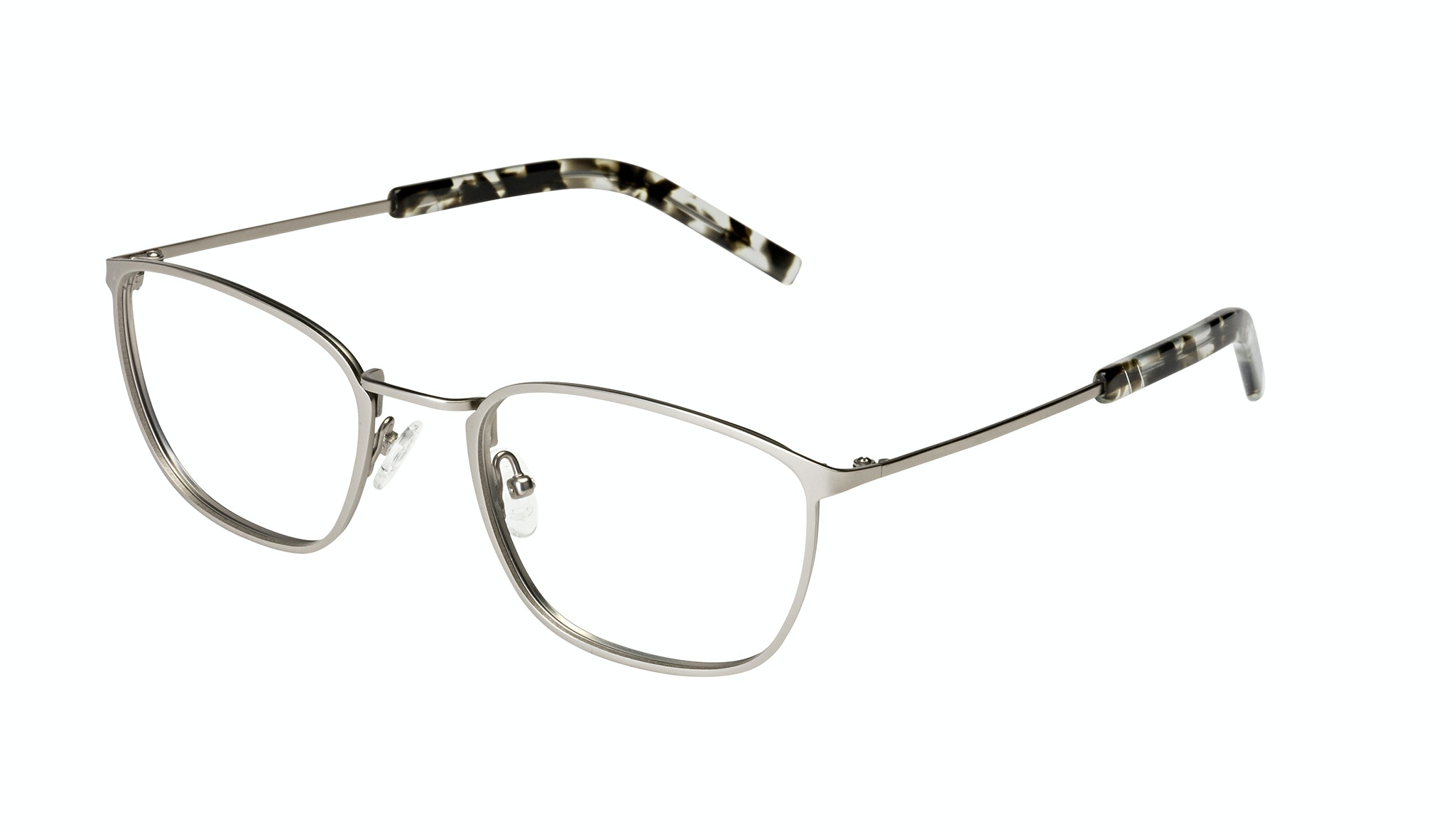 Affordable Fashion Glasses Rectangle Eyeglasses Men Edge Silver Tilt