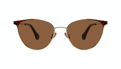 Affordable Fashion Glasses Cat Eye Sunglasses Women Edgy Gold Tort Front