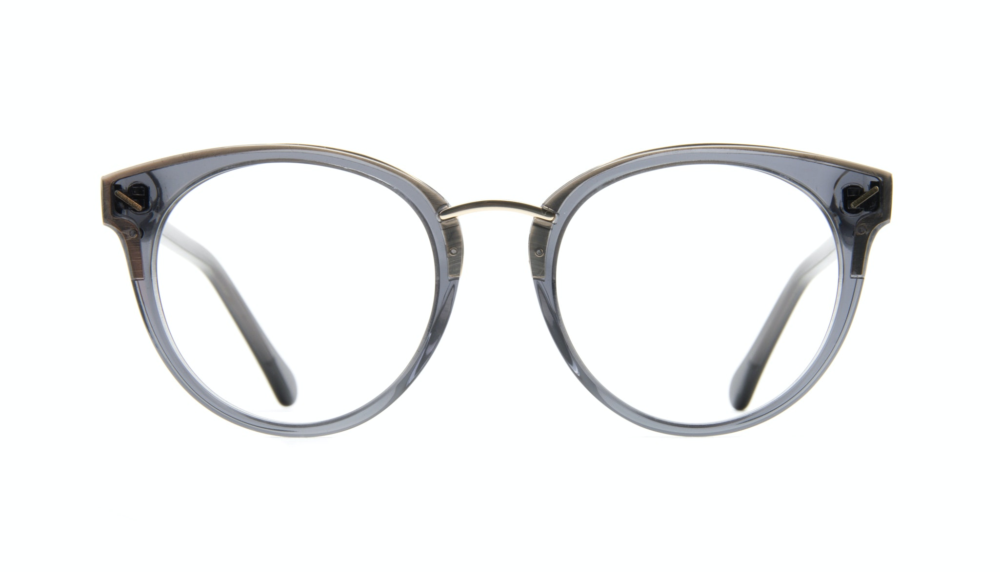 Affordable Fashion Glasses Round Eyeglasses Women Element Gold Shadow Front