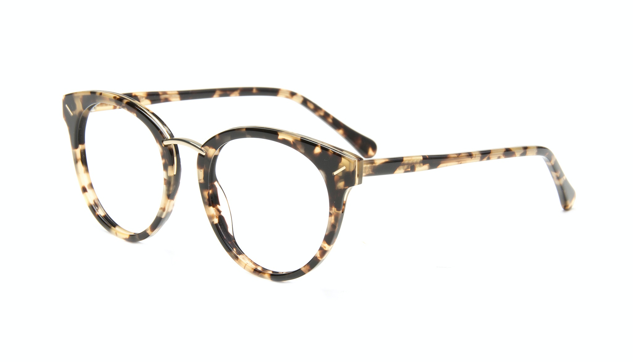 Affordable Fashion Glasses Cat Eye Round Eyeglasses Women Element Gold Tort Tilt