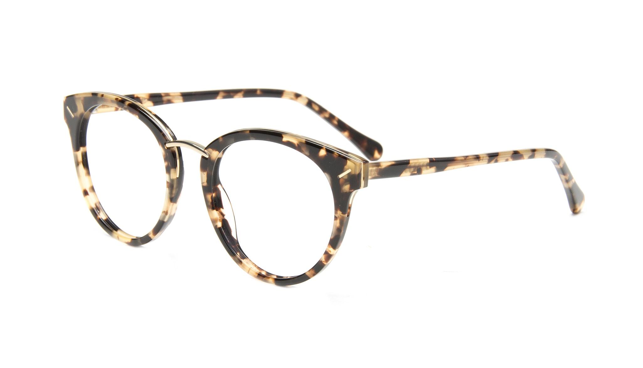 Affordable Fashion Glasses Cat Eye Round Eyeglasses Women Element Gold Tort Tilt