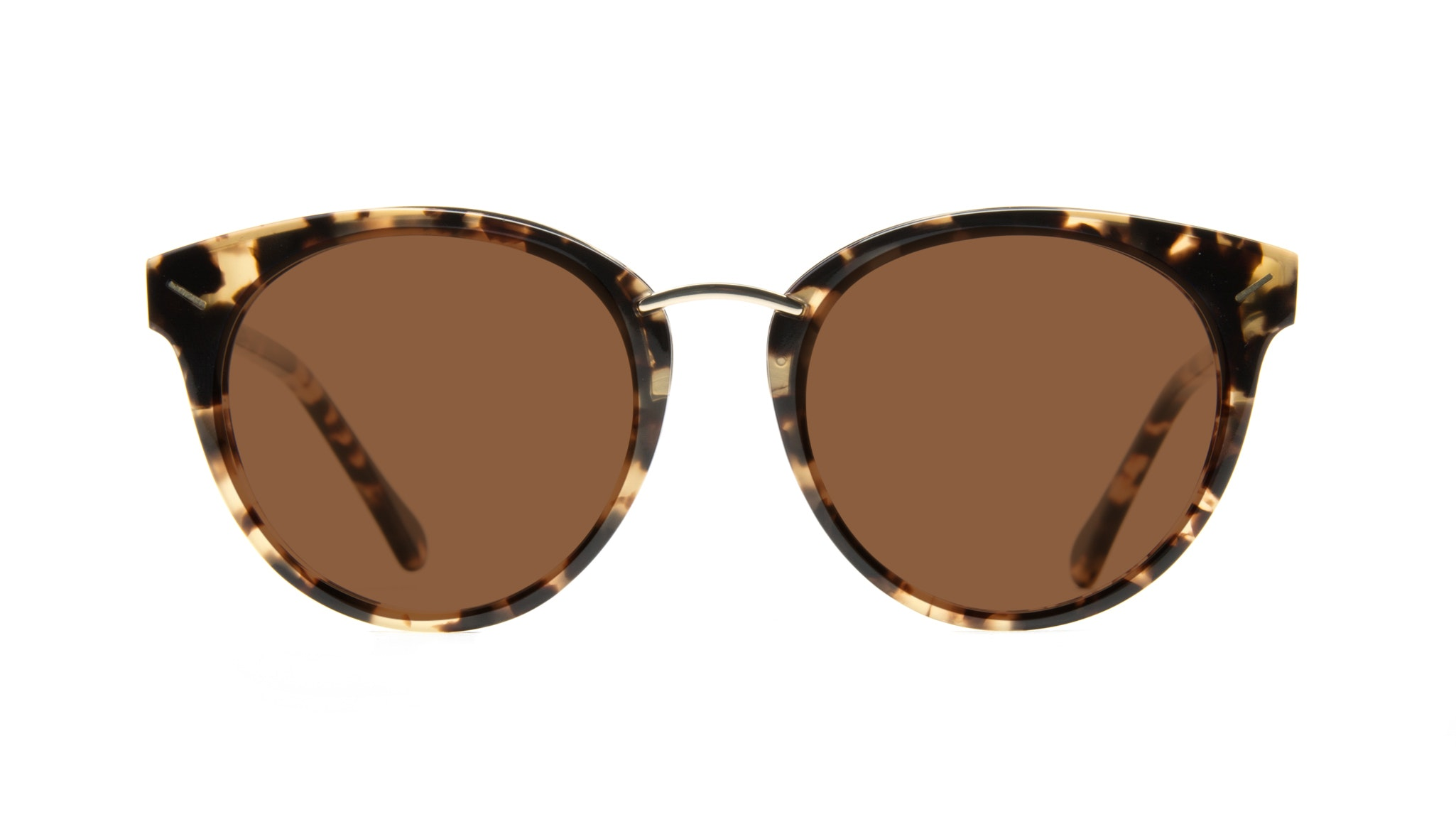 Affordable Fashion Glasses Round Sunglasses Women Element Gold Tort Front