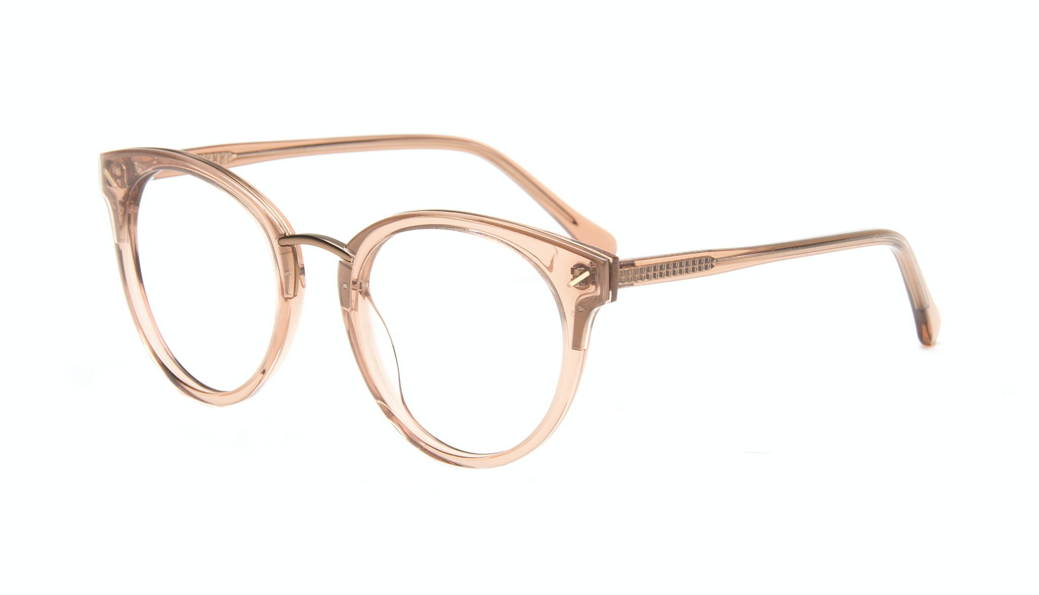 Affordable Fashion Glasses Round Eyeglasses Women Element Rose Tilt