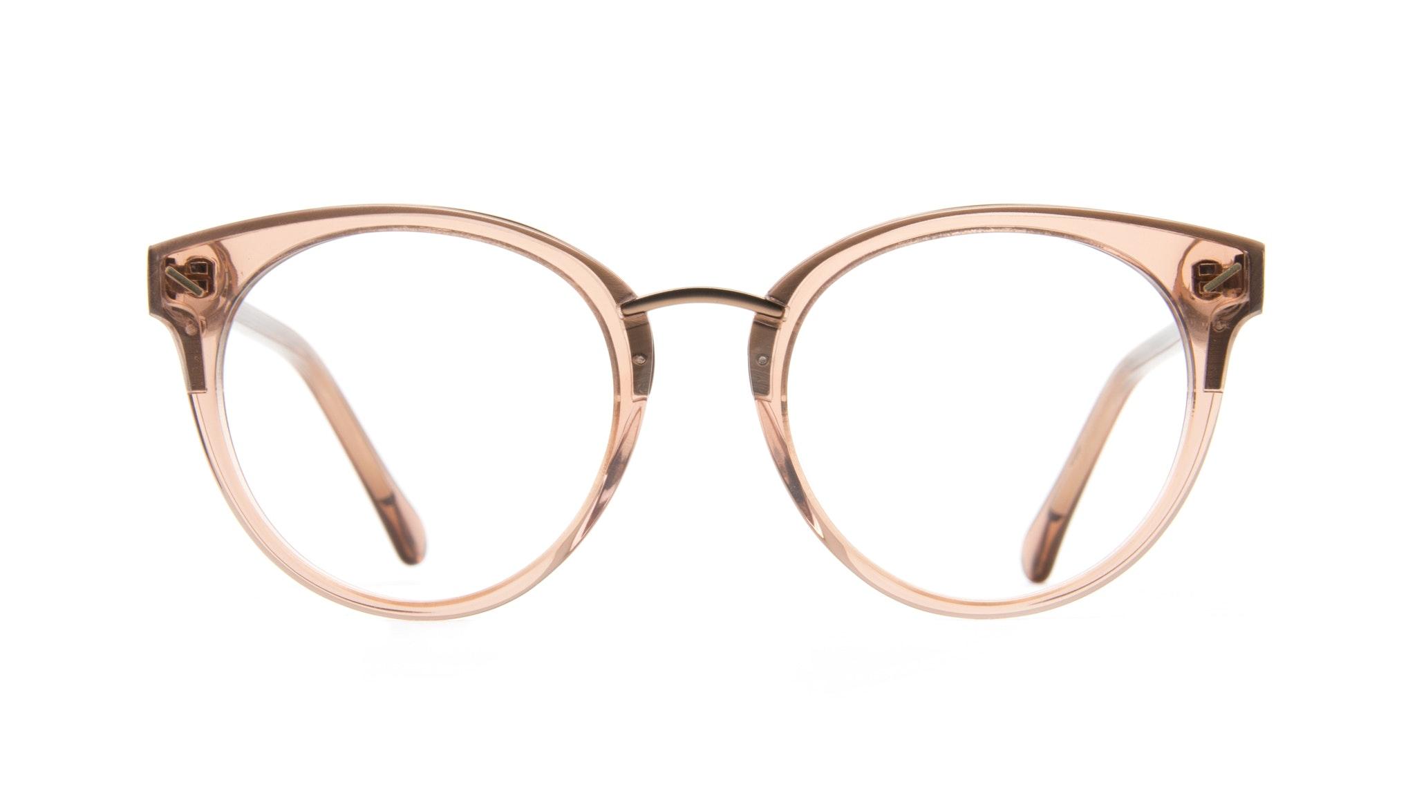 Affordable Fashion Glasses Cat Eye Round Eyeglasses Women Element Rose Front