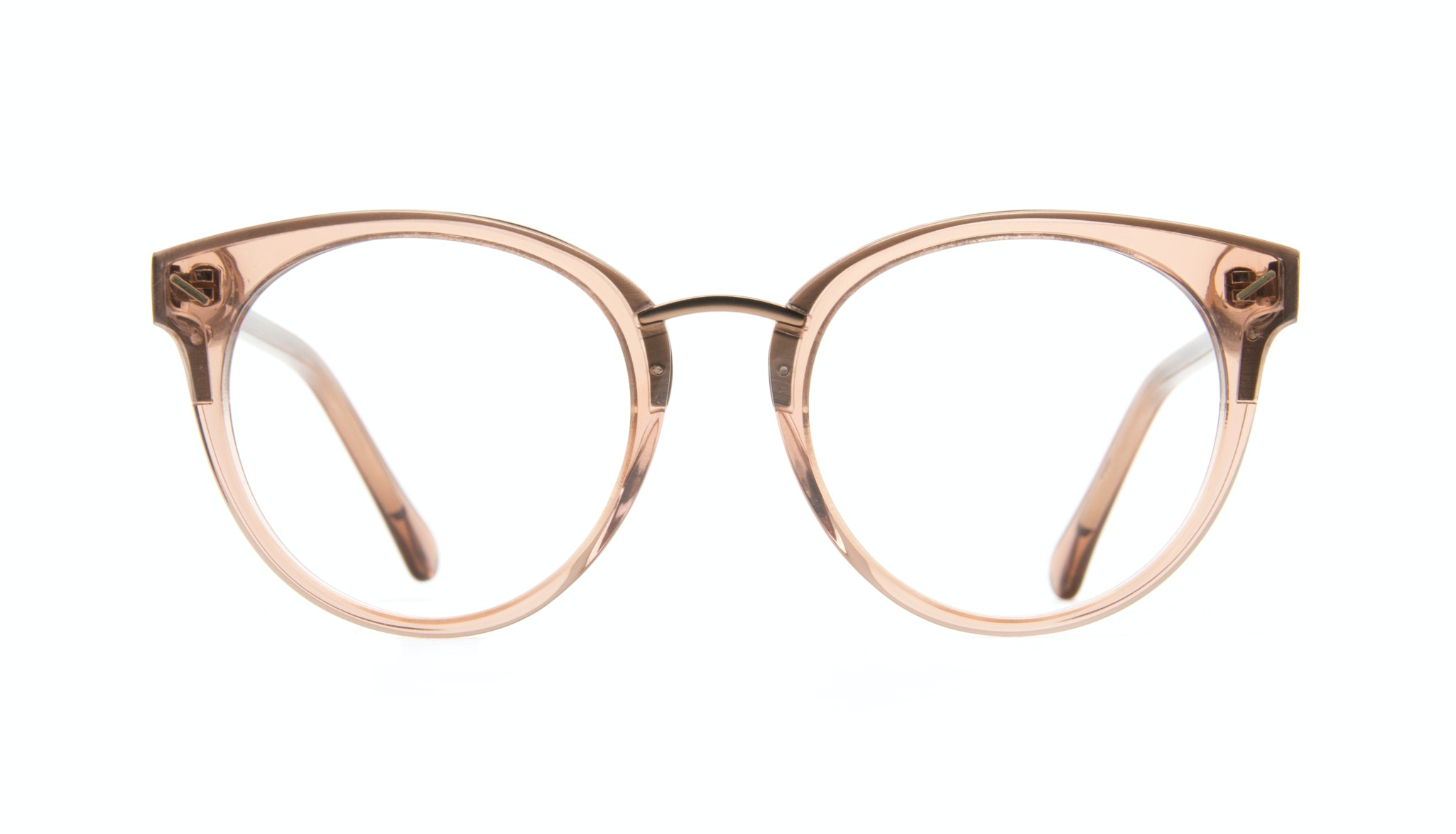 Affordable Fashion Glasses Round Eyeglasses Women Element Rose Front