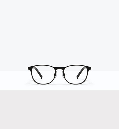 Affordable Fashion Glasses Square Eyeglasses Men Elevate Onyx Matte Front