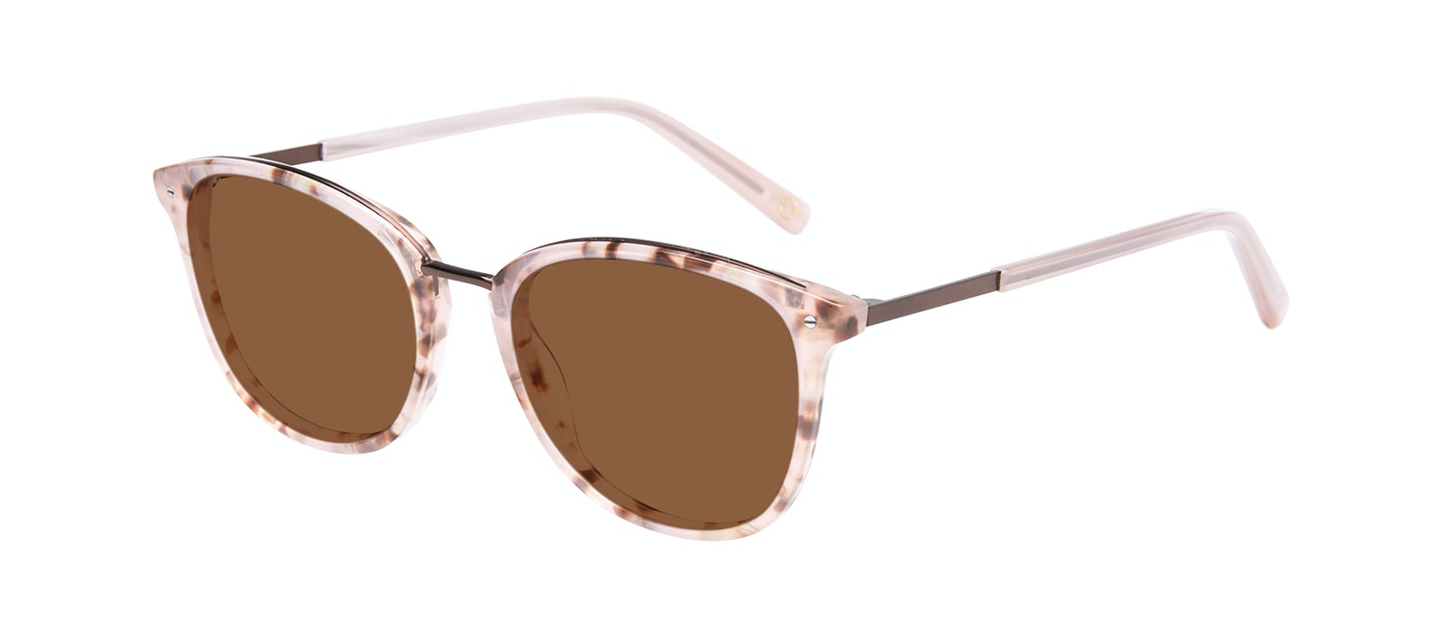 Affordable Fashion Glasses Square Round Sunglasses Women Bella Blush Tortie Tilt