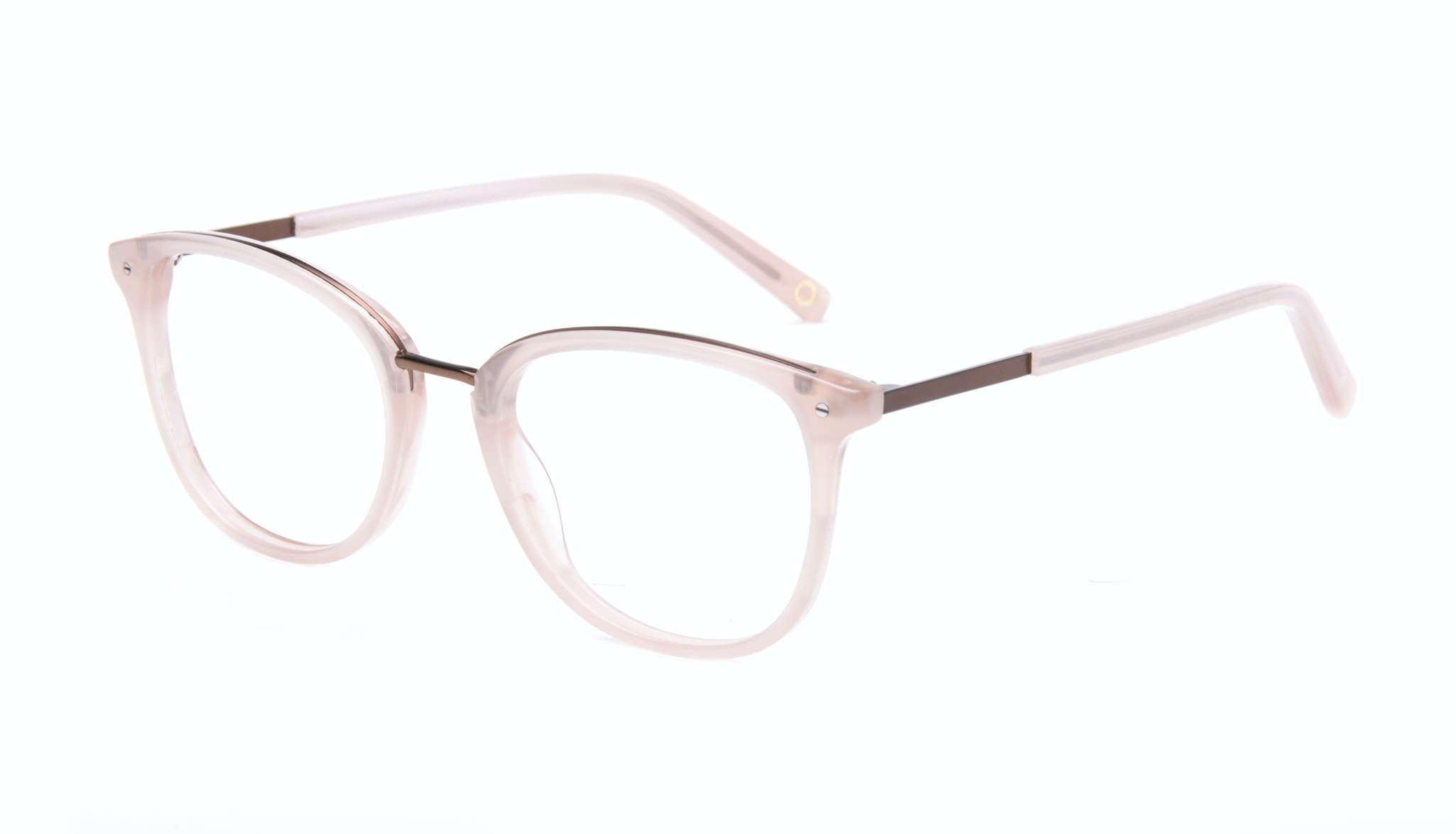 Affordable Fashion Glasses Square Round Eyeglasses Women Ella Blush Tilt