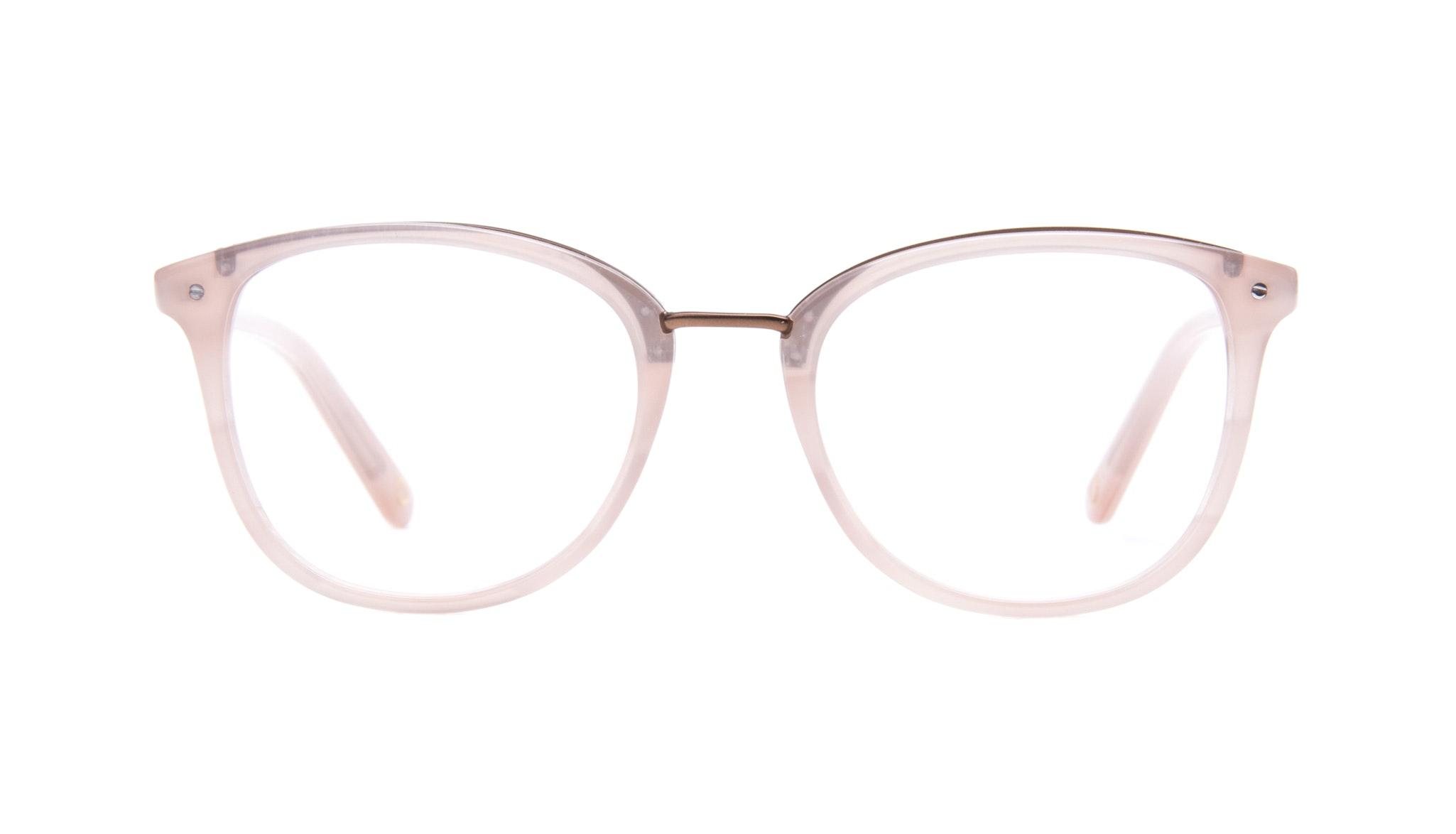 Affordable Fashion Glasses Square Round Eyeglasses Women Ella Blush Front