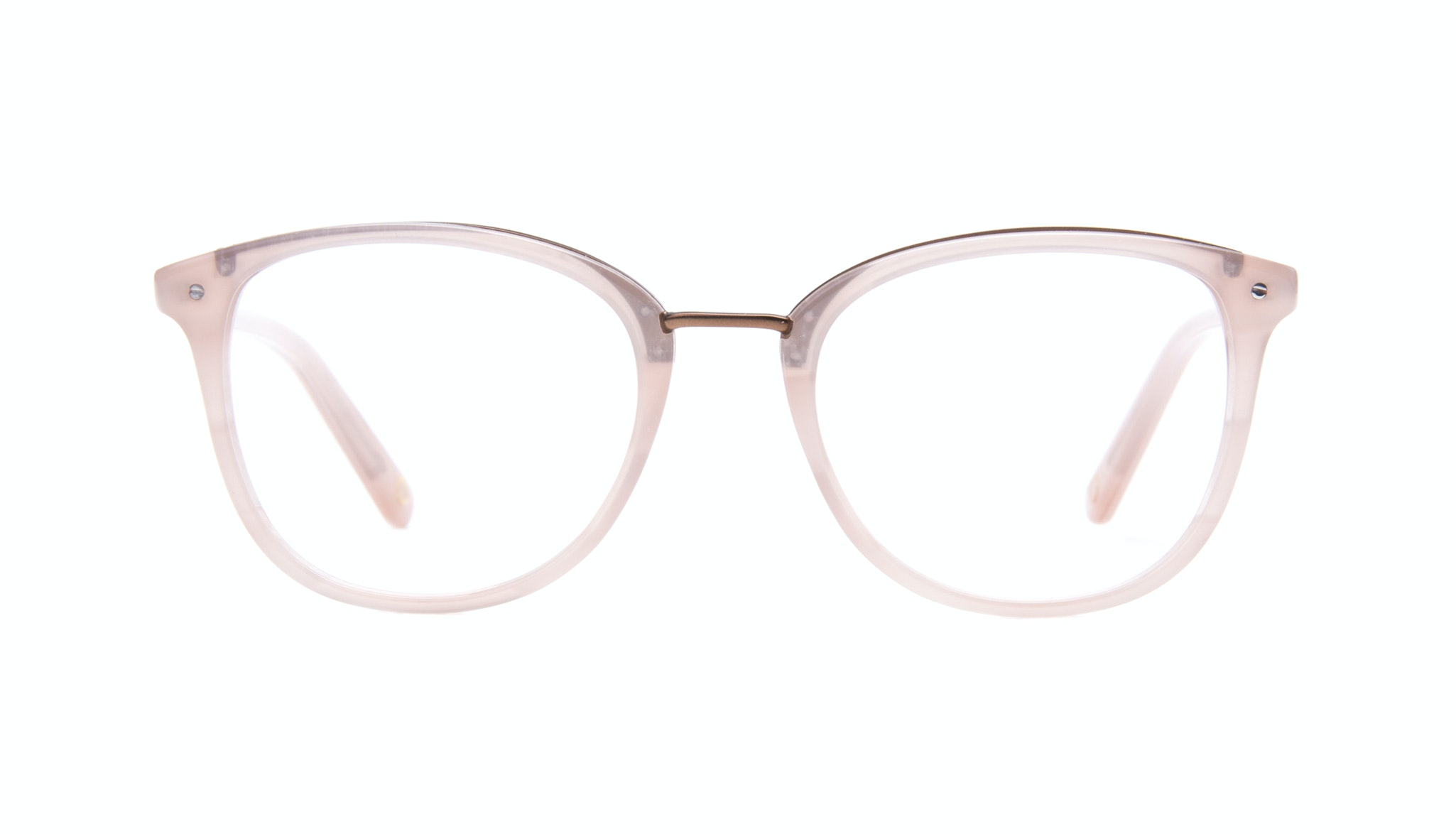 Affordable Fashion Glasses Square Round Eyeglasses Women Bella Blush Front