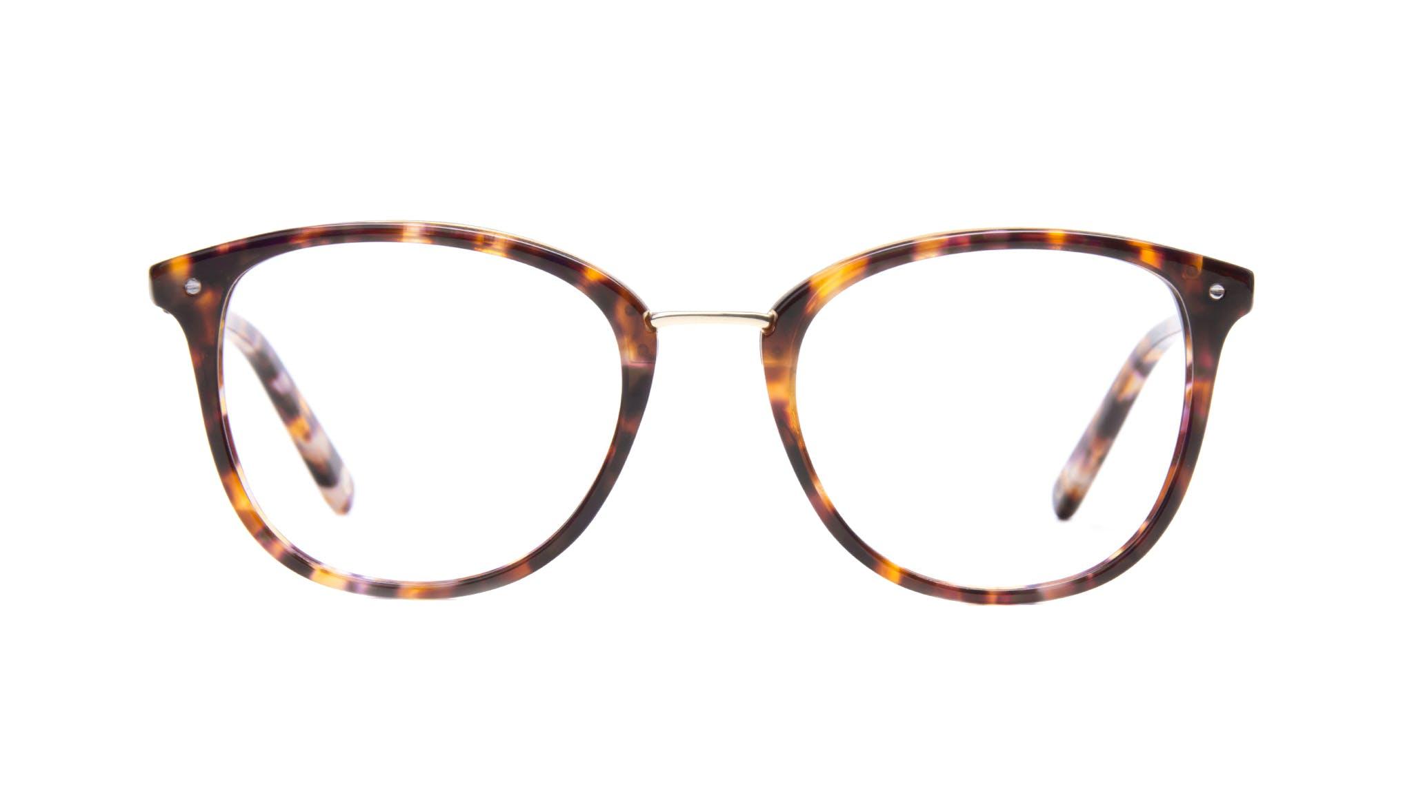 Affordable Fashion Glasses Square Round Eyeglasses Women Bella Dark Tortoise Front