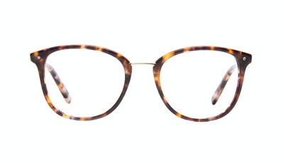 Affordable Fashion Glasses Square Round Eyeglasses Women Bella Dark Tortoise Front