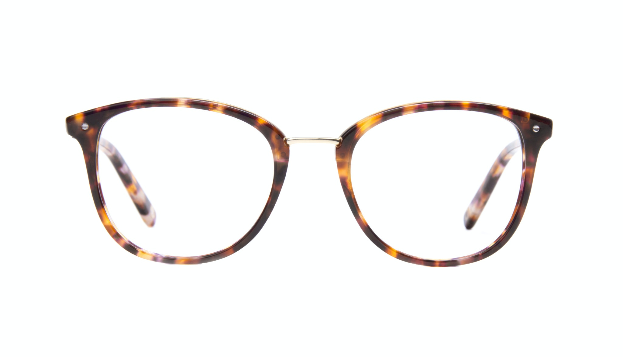 Affordable Fashion Glasses Square Round Eyeglasses Women Ella Dark Tortoise Front