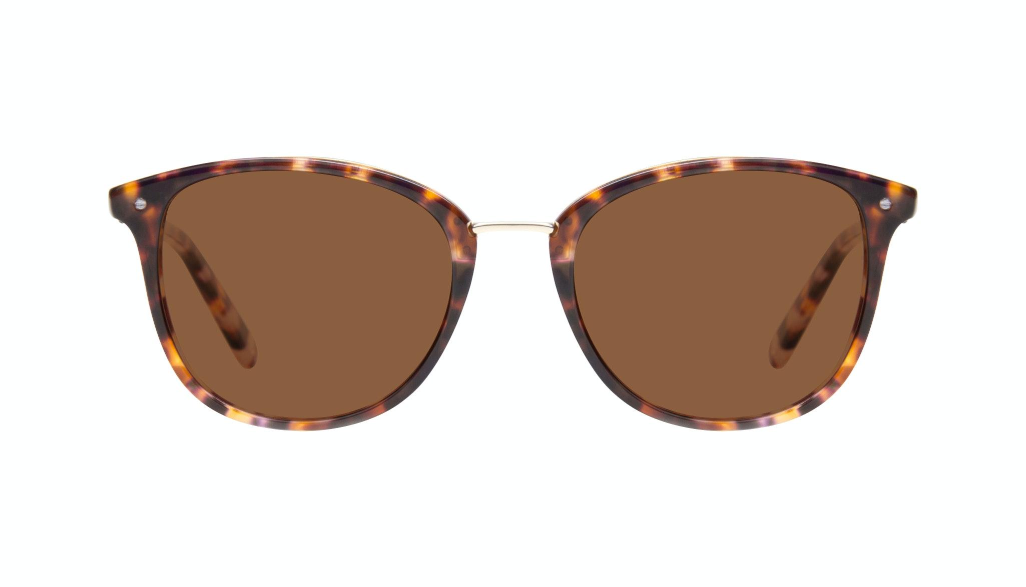 Affordable Fashion Glasses Square Round Sunglasses Women Bella Dark Tortoise