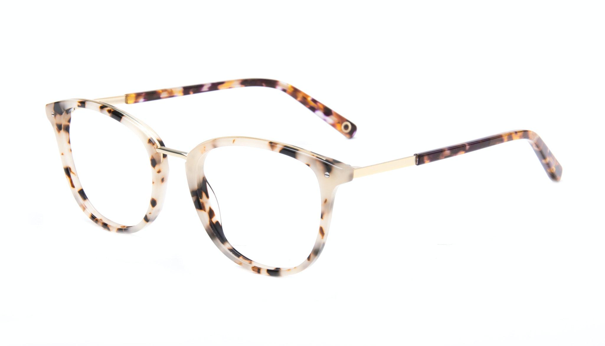 Affordable Fashion Glasses Square Round Eyeglasses Women Ella Gold Tortie Tilt